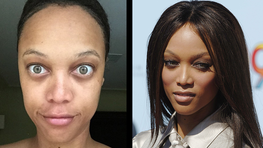 Dit is supermodel Tyra Banks zonder make-up