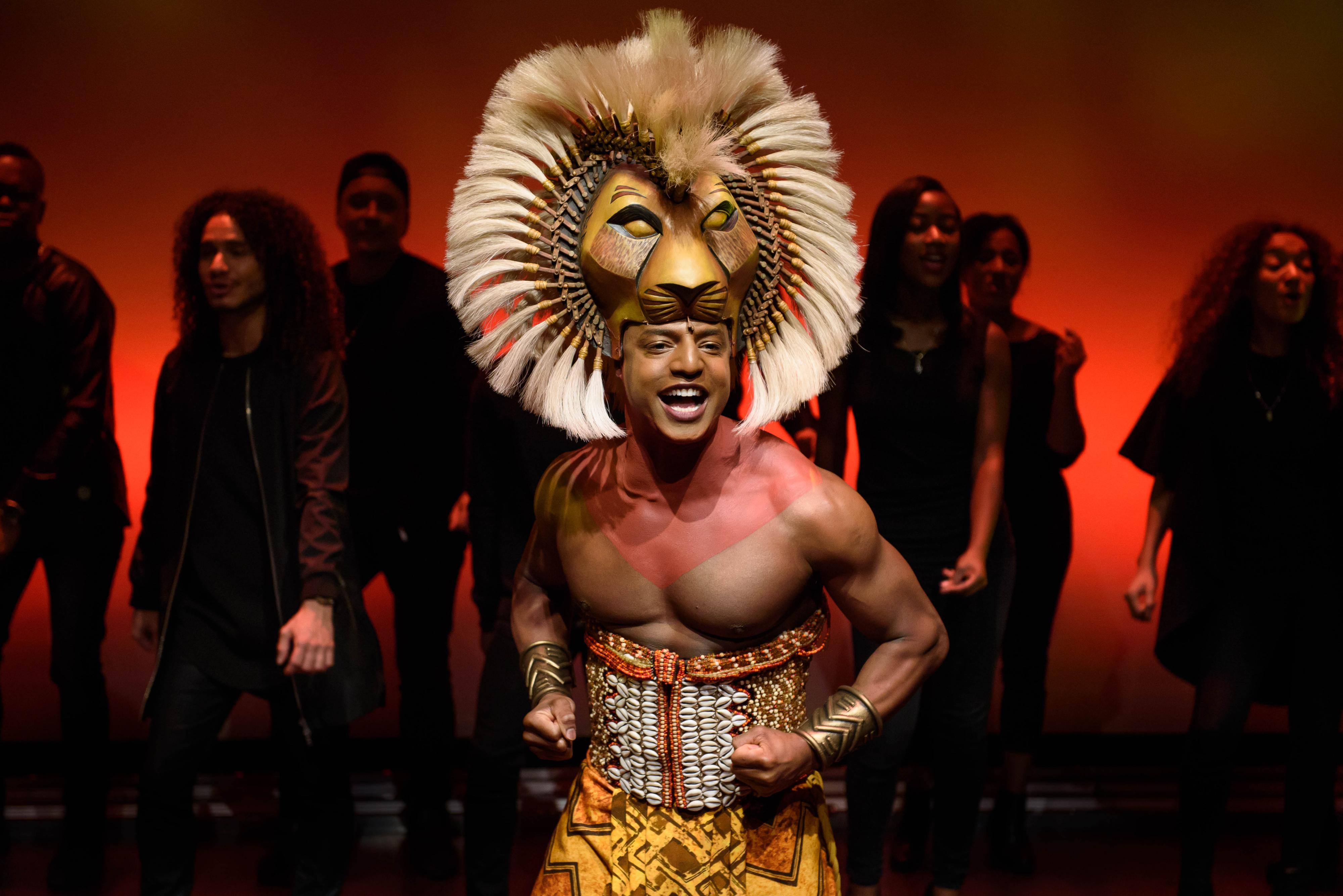 Internationale musicalster Jonathan Andrew Hume als Simba. Foto: Margot de Heide, Roy Beusker