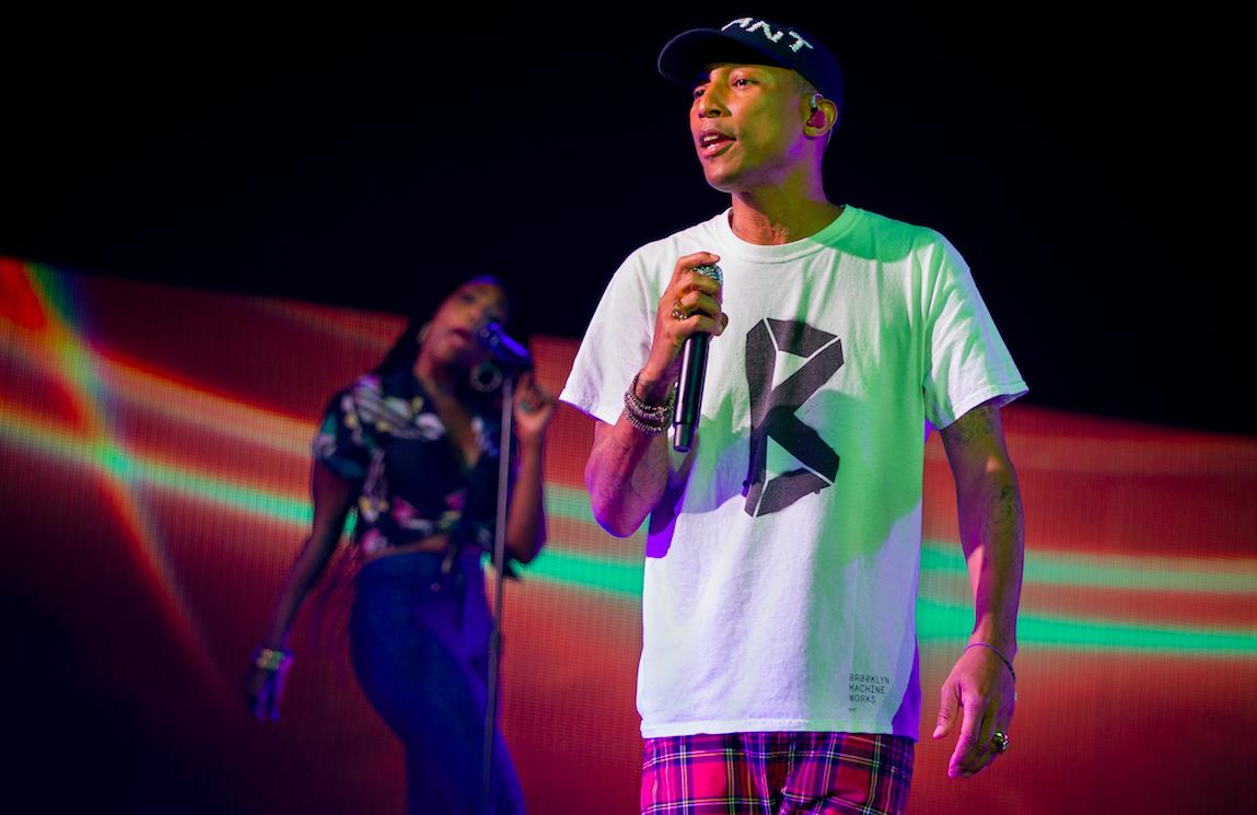 De Amerikaanse zanger en producer Pharrell Williams