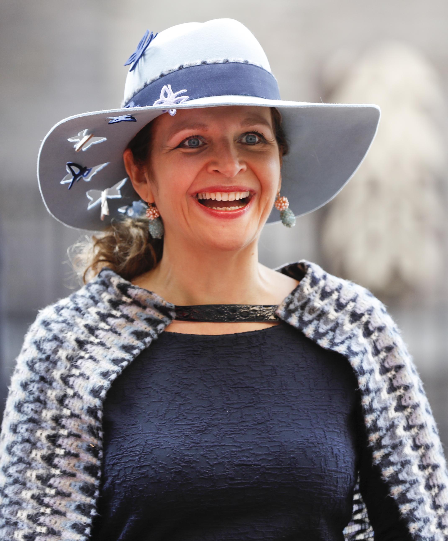 Minister Edith Schippers (VWS) arriveert bij de Ridderzaal op Prinsjesdag. ANP