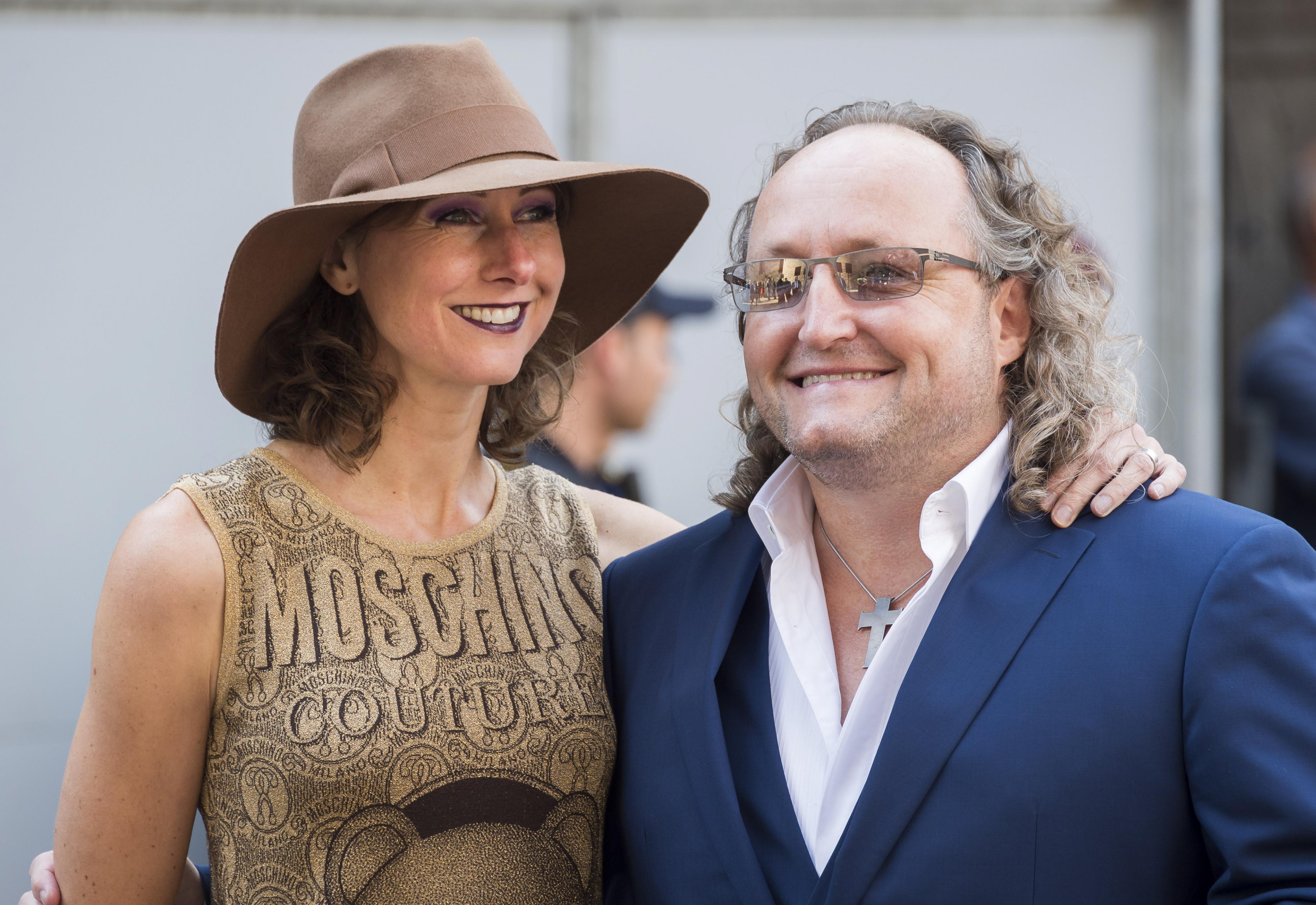 PVV-Kamerlid Dion Graus met partner bij de Ridderzaal op Prinsjesdag. ANP