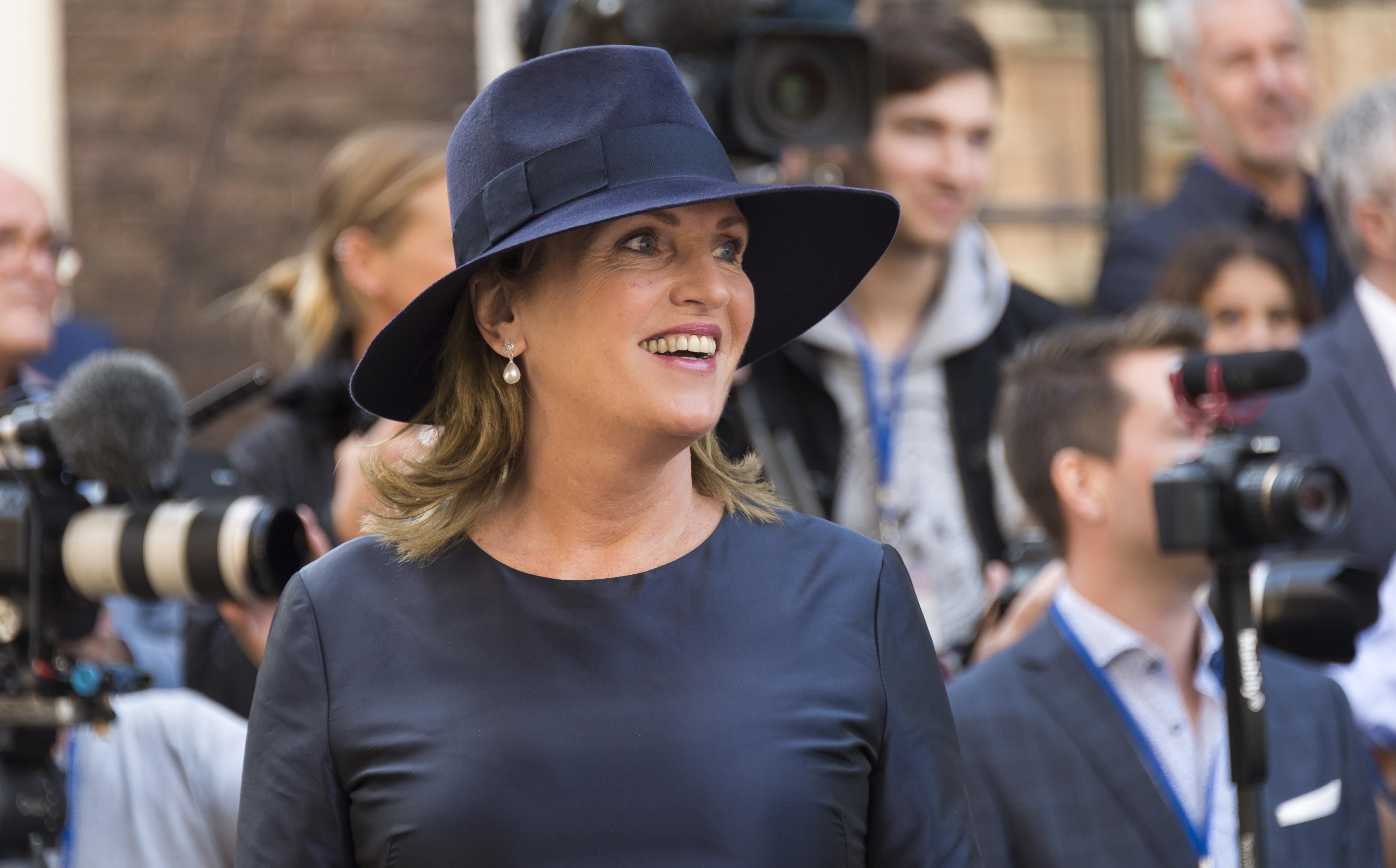 D66 Tweede Kamerlid Pia Dijkstra bij de Ridderzaal op Prinsjesdag. ANP