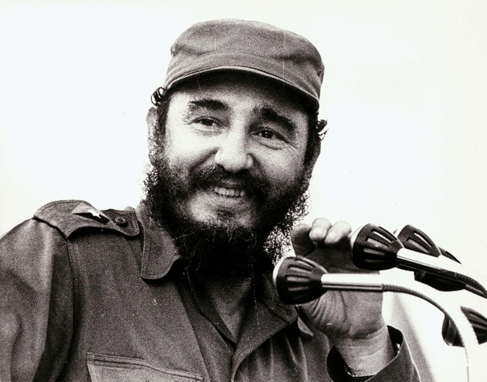 Fidel Castro in 1972, Havana. Foto: AFP