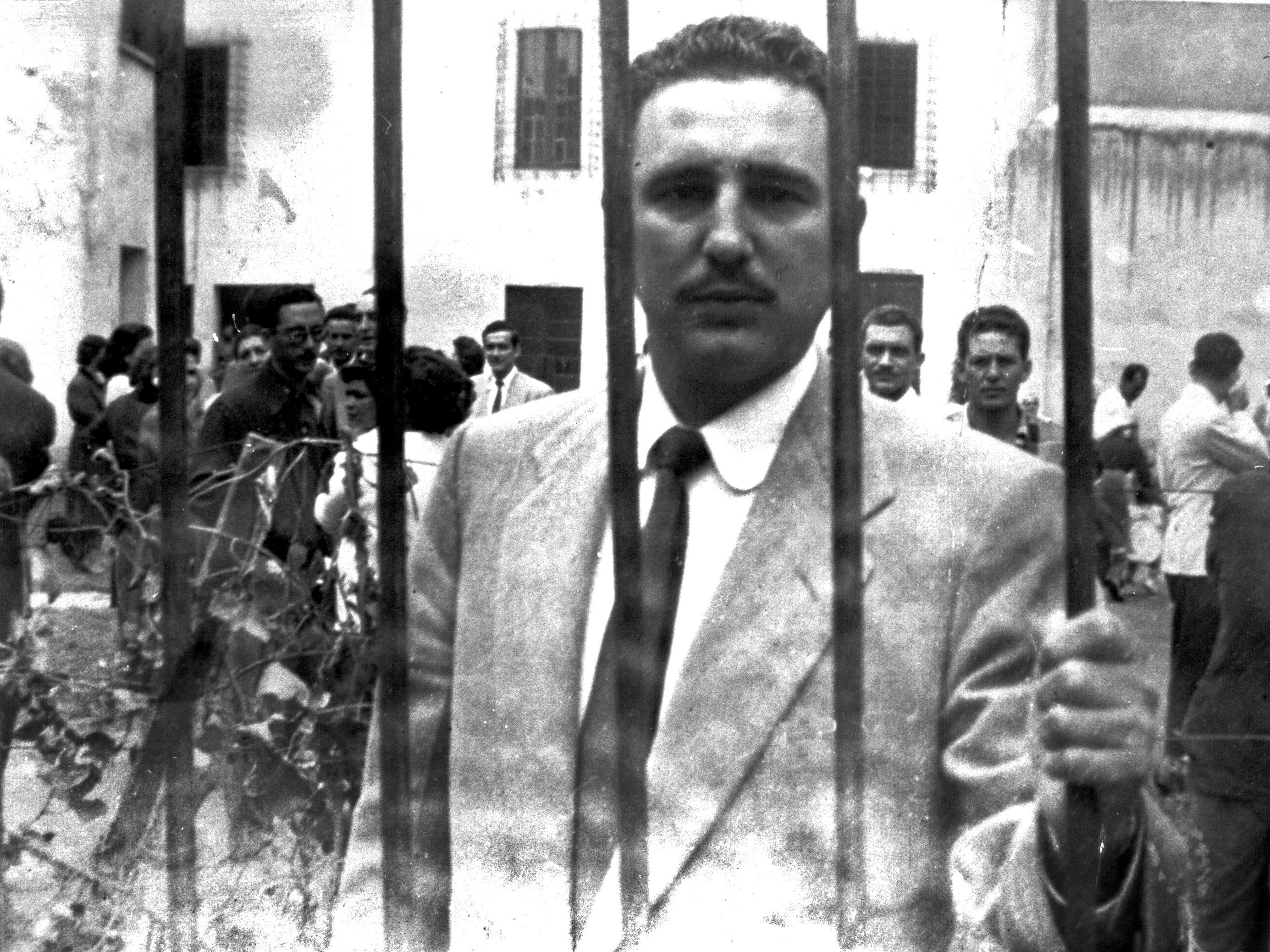 Fidel Castro in de Miguel Schultz gevangenis, 1956. Foto: AFP