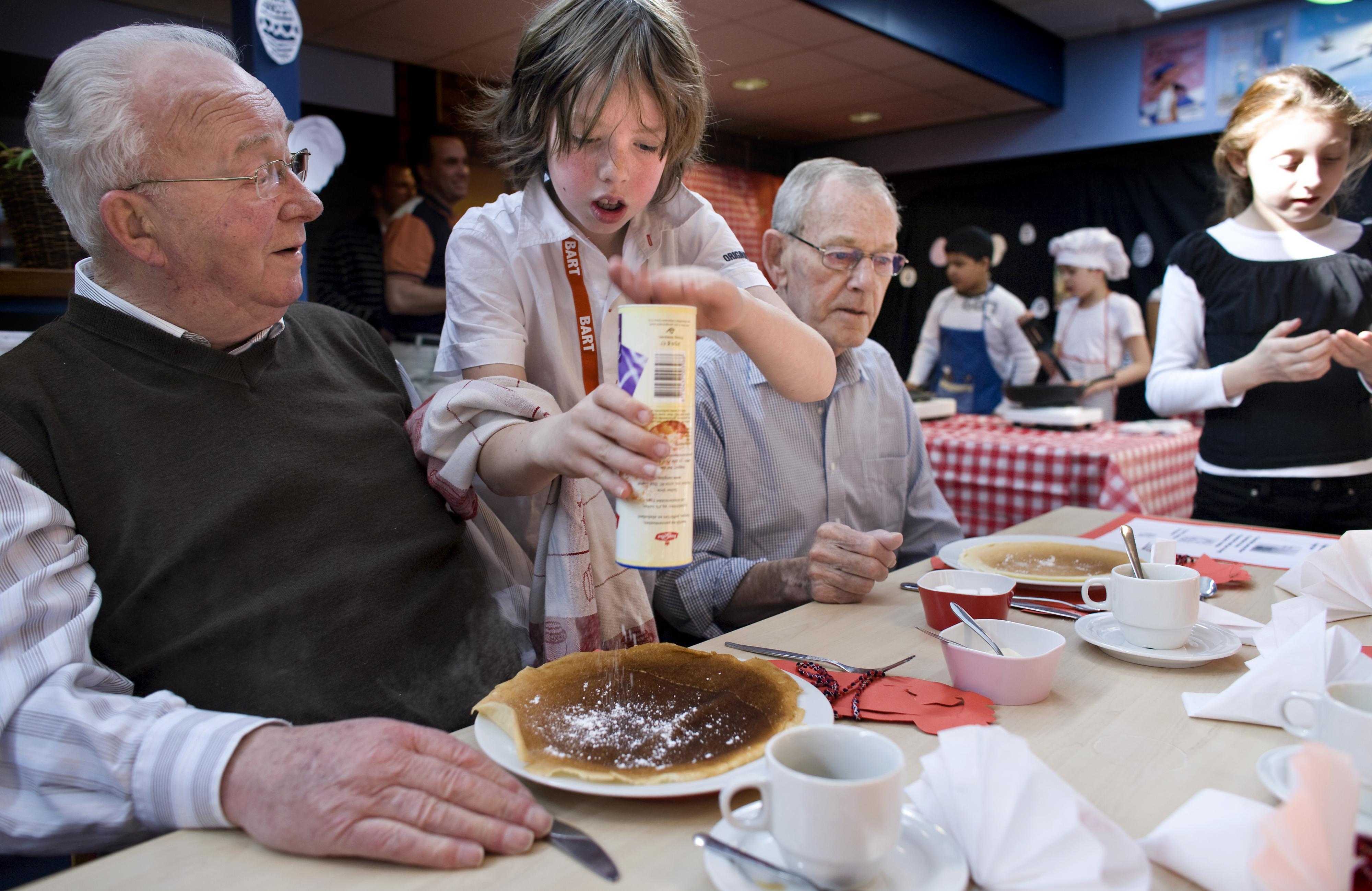 Nederlanders eten het liefst pannenkoeken met stroop of poedersuiker. / ANP