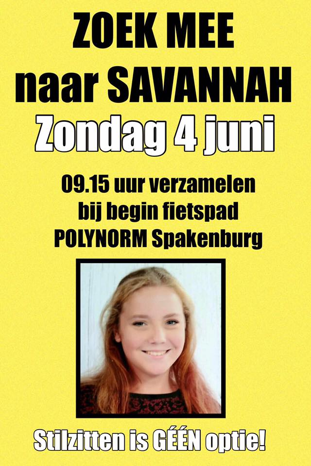 Honderden zoeken naar vermiste Savannah