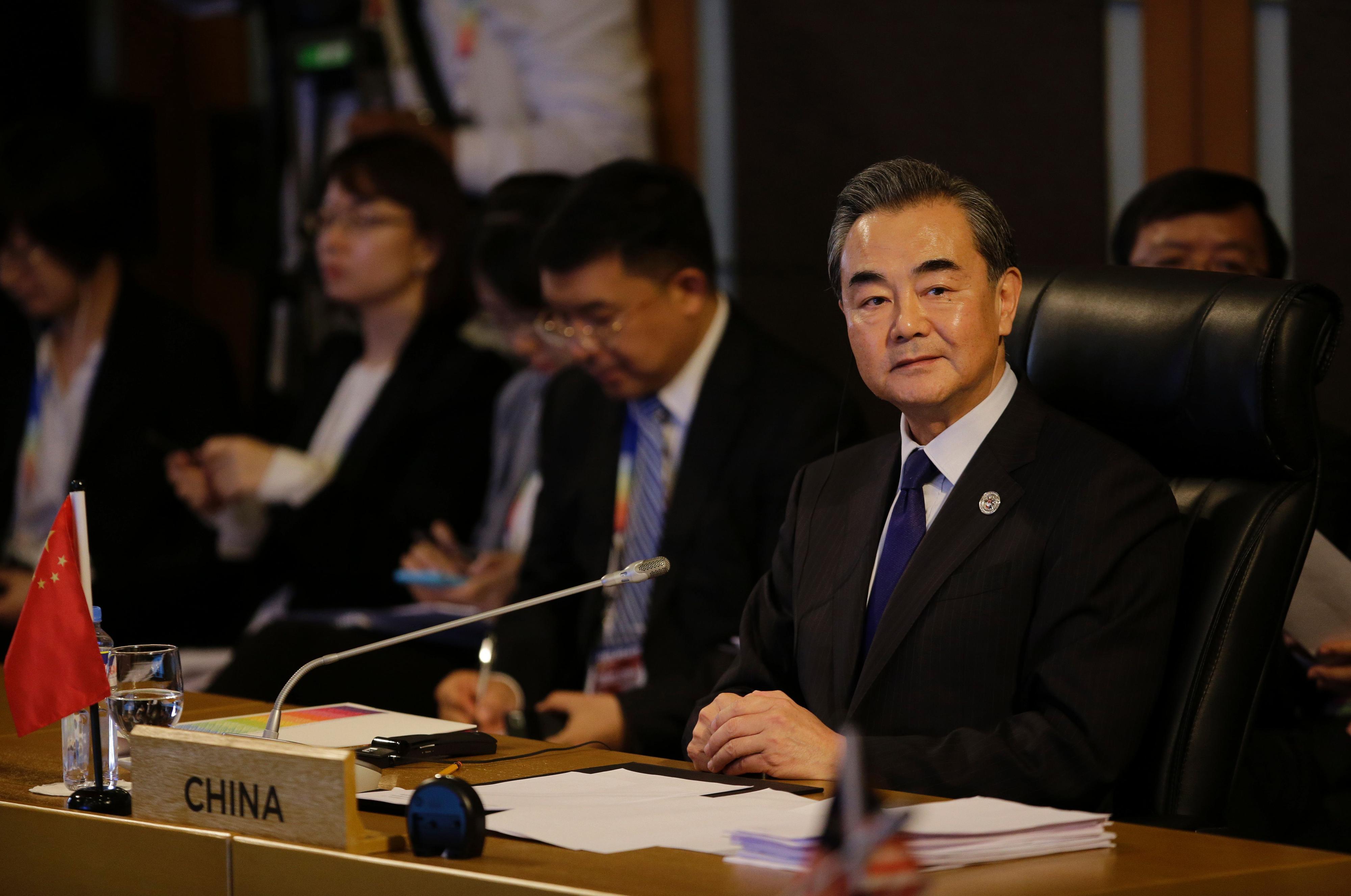 De Chinese minister van Buitenlandse Zaken, Wang Yi. Foto: AFP / Aaron Favila