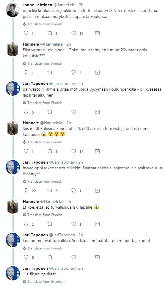 """Finse agent: """"Laat terroristen toe op onze scholen"""""""
