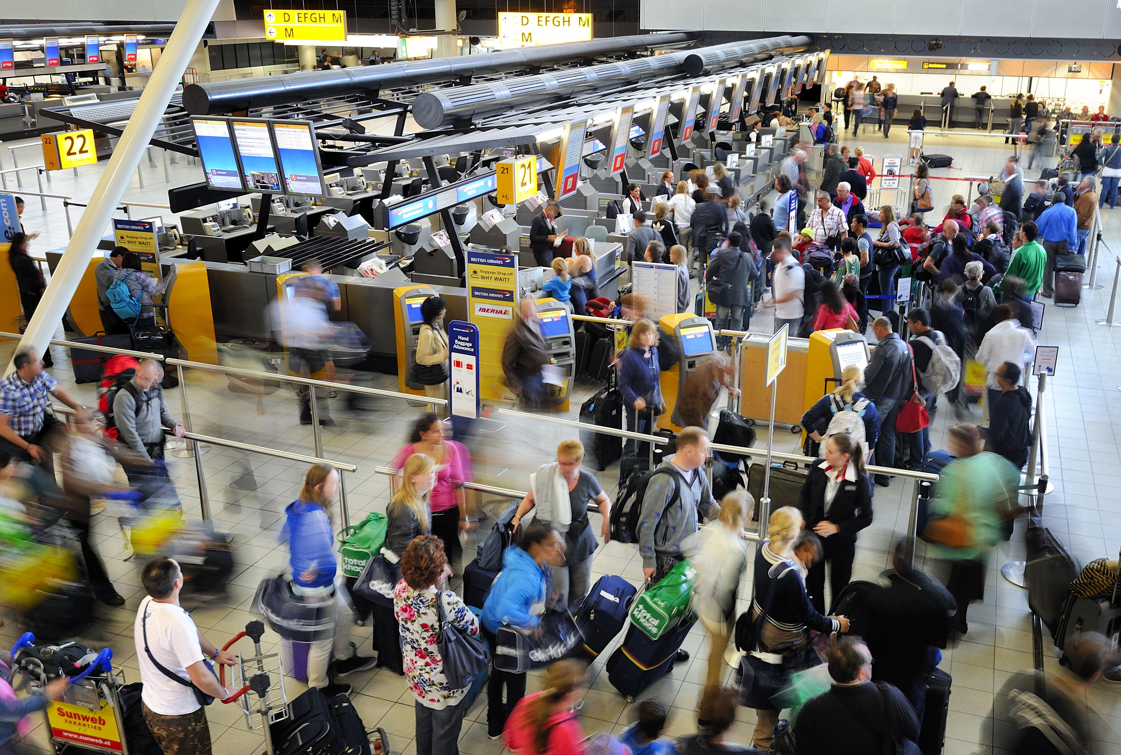 Reizigers op de luchthaven. Foto: ANP