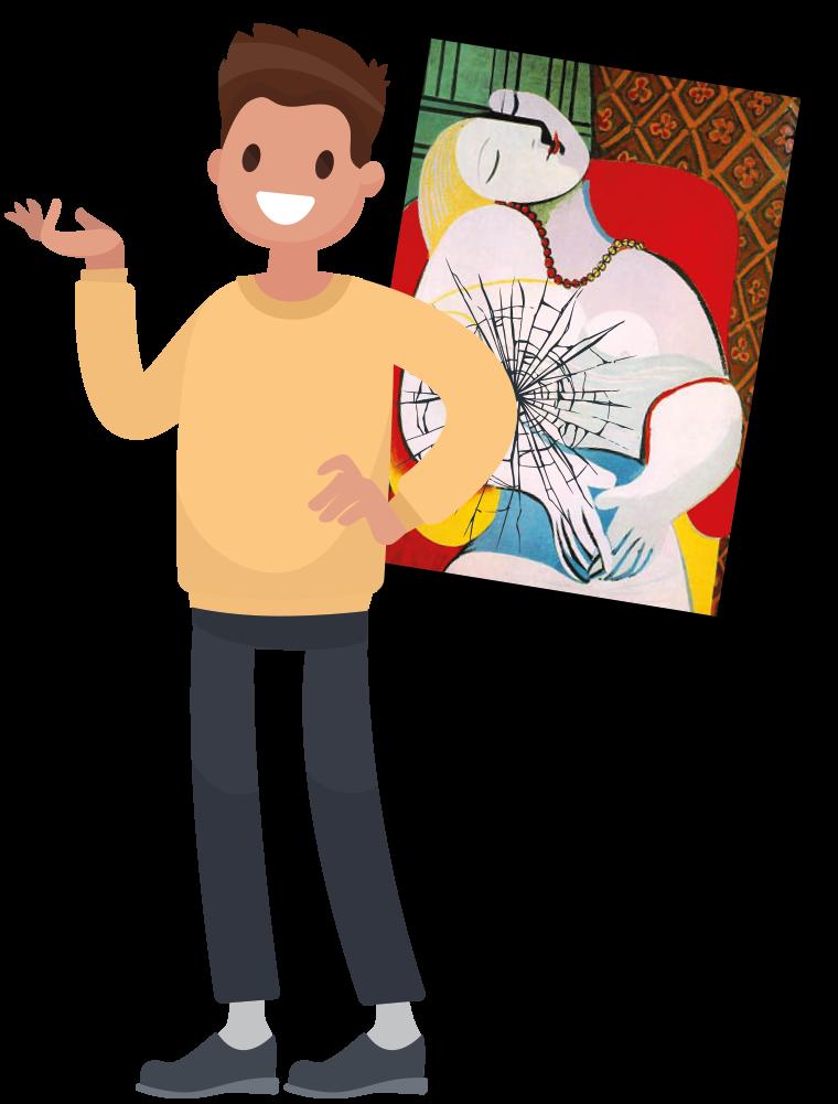 8x kostbaarste kunstbloopers: elleboog door Picasso