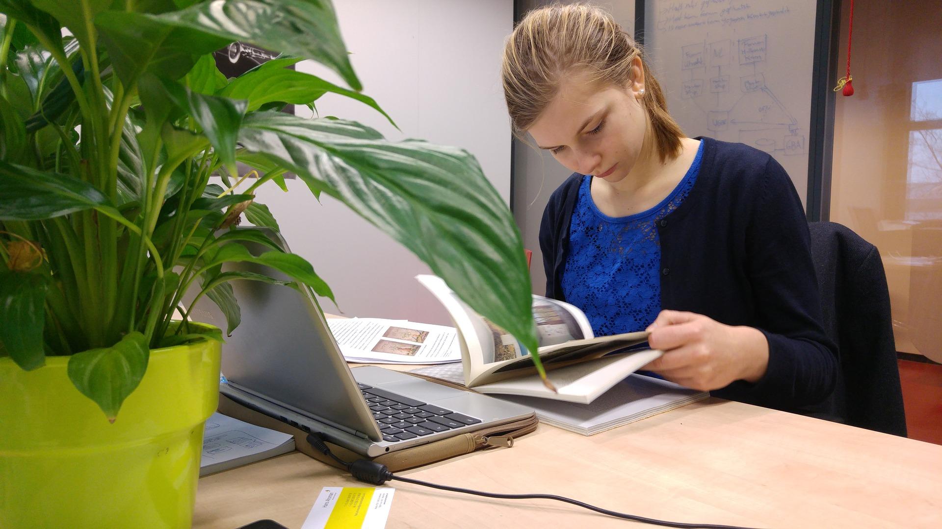 Een vrouw studeert. Foto: Pixabay