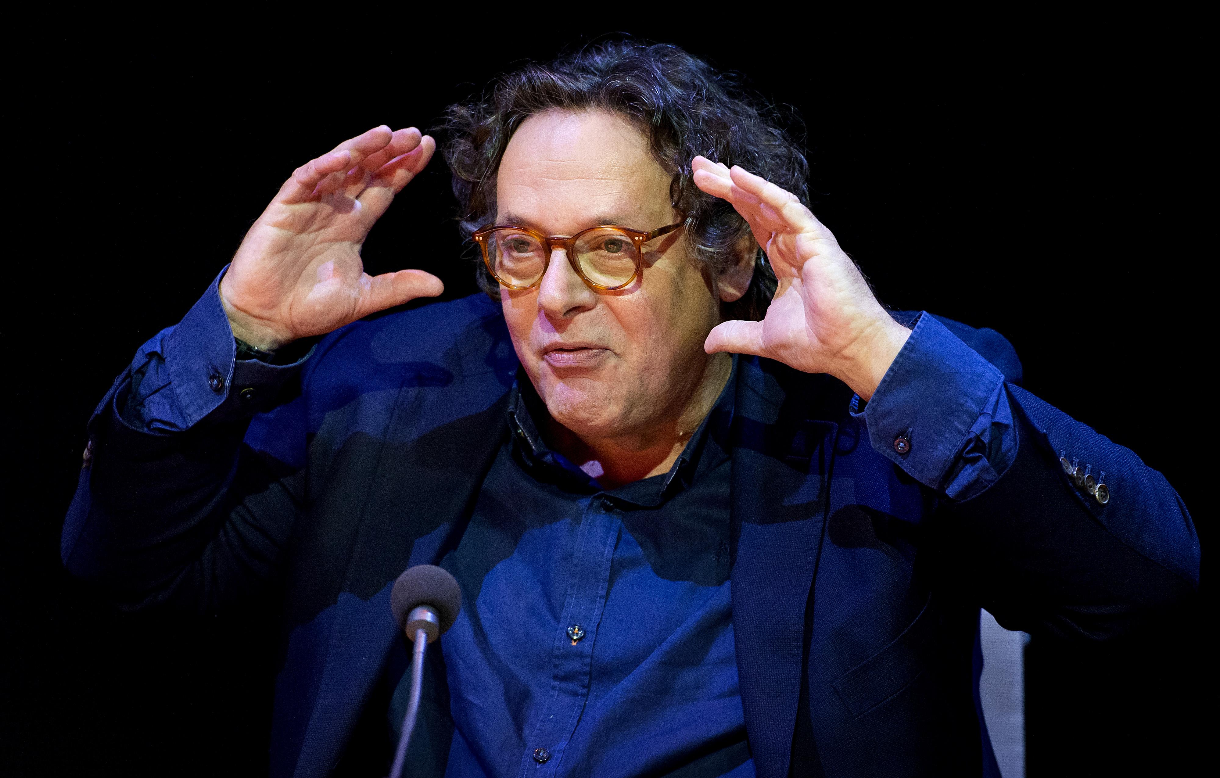 Ruut Weissman tijdens de perspresentatie van DeLaMar Producties. Foto: ANP   Koen van Weel