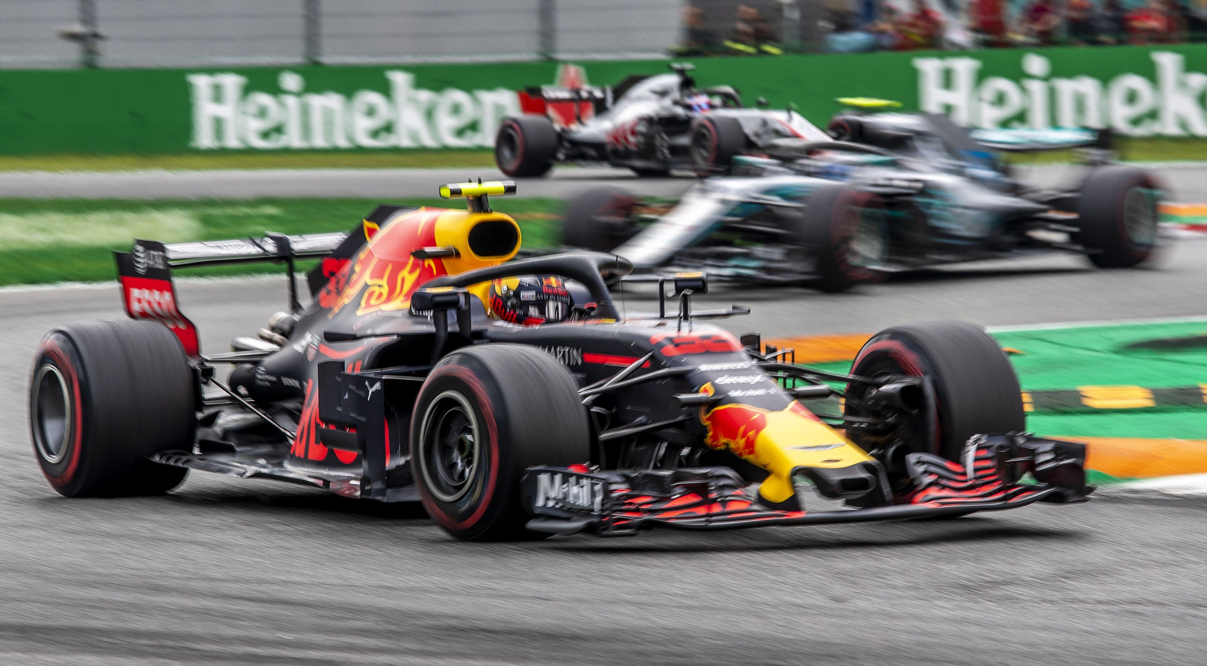 Geen podiumplek voor Verstappen in race Italië