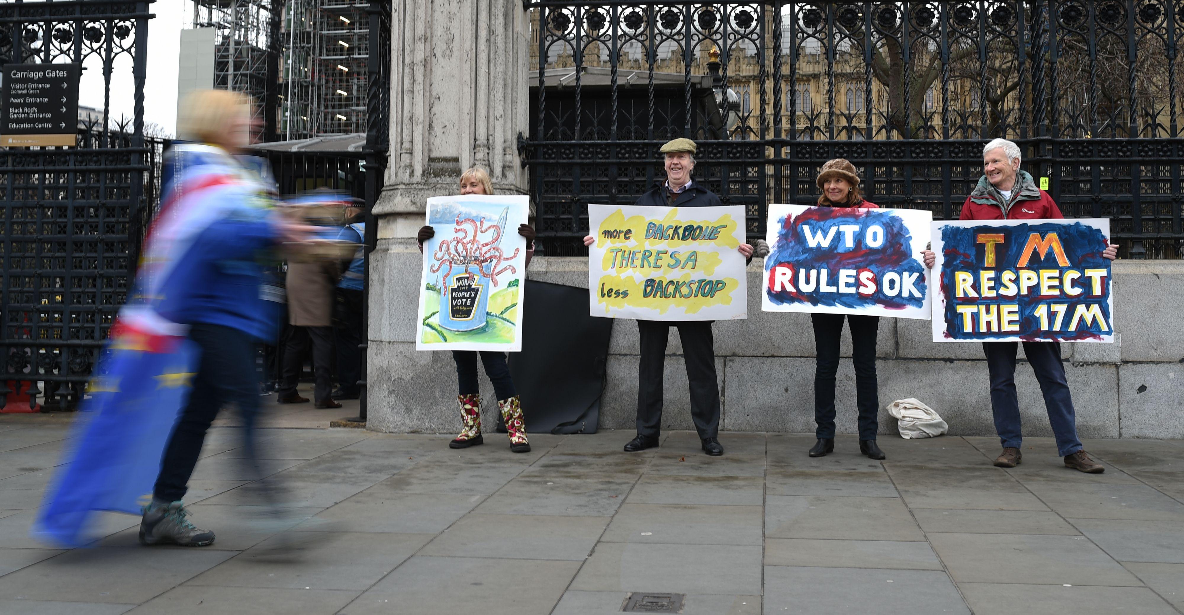 Pro-Brexit protesten. Foto: ANP