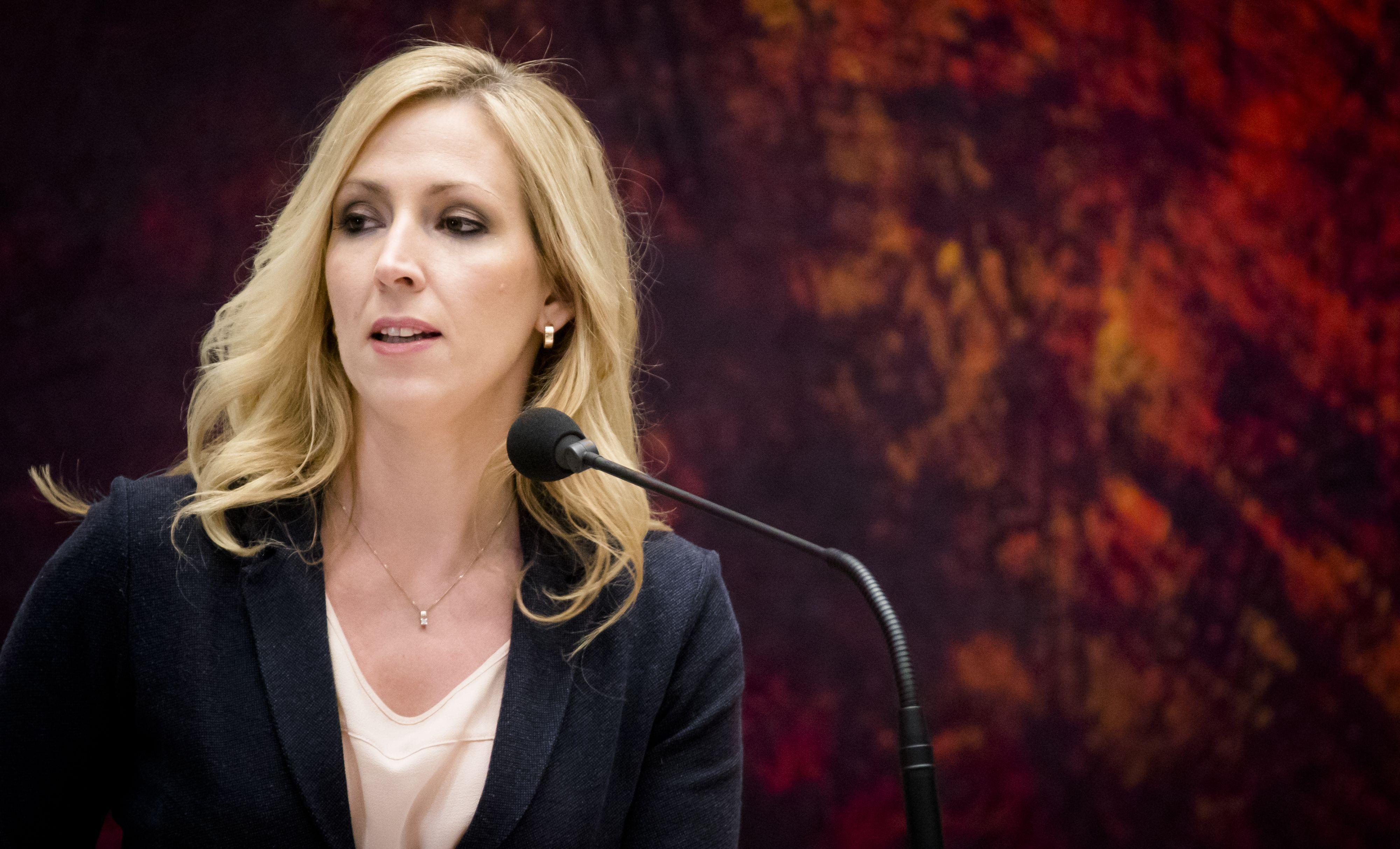 Lilian Marijnissen (SP) in de Tweede Kamer.