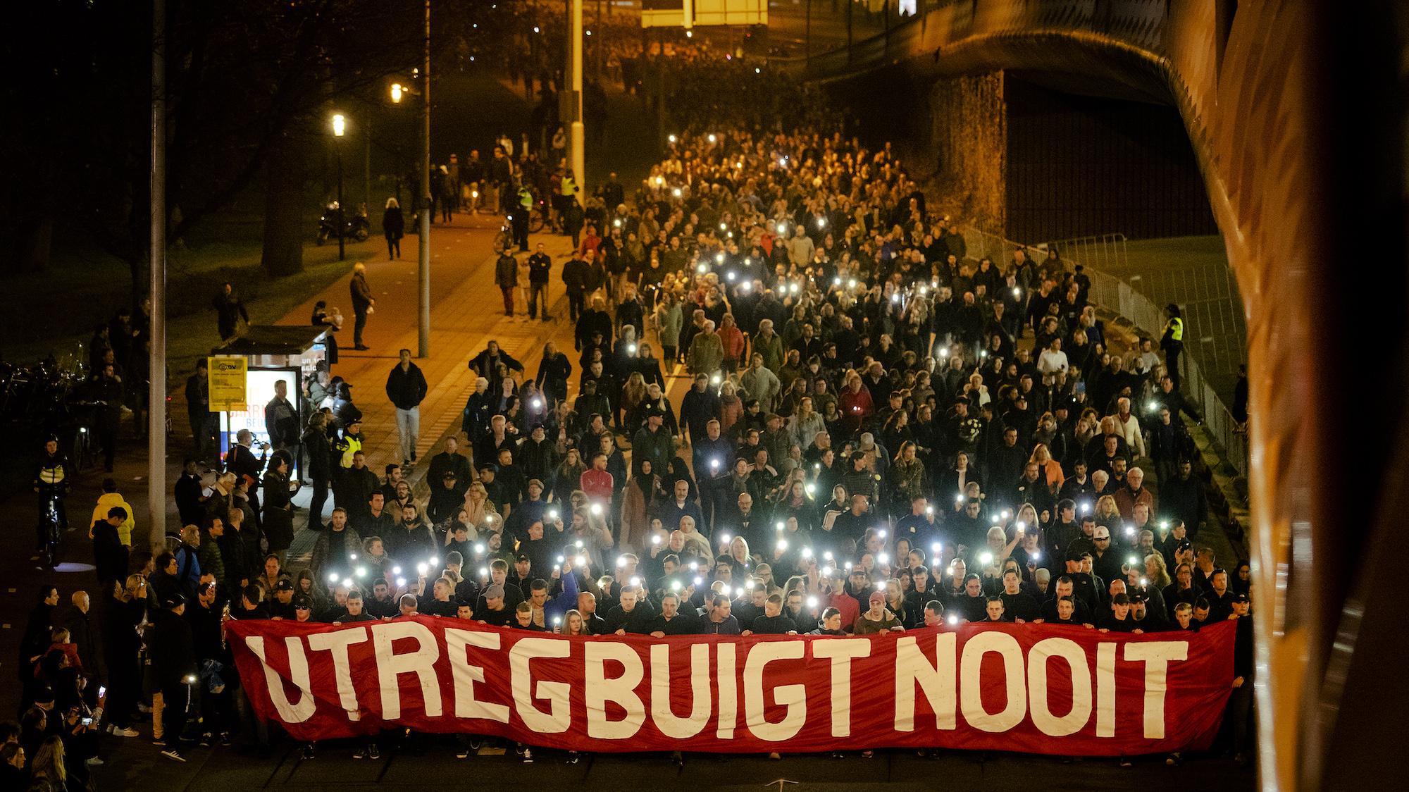 Herdenkingsplechtigheid 24 oktoberplein Utrecht