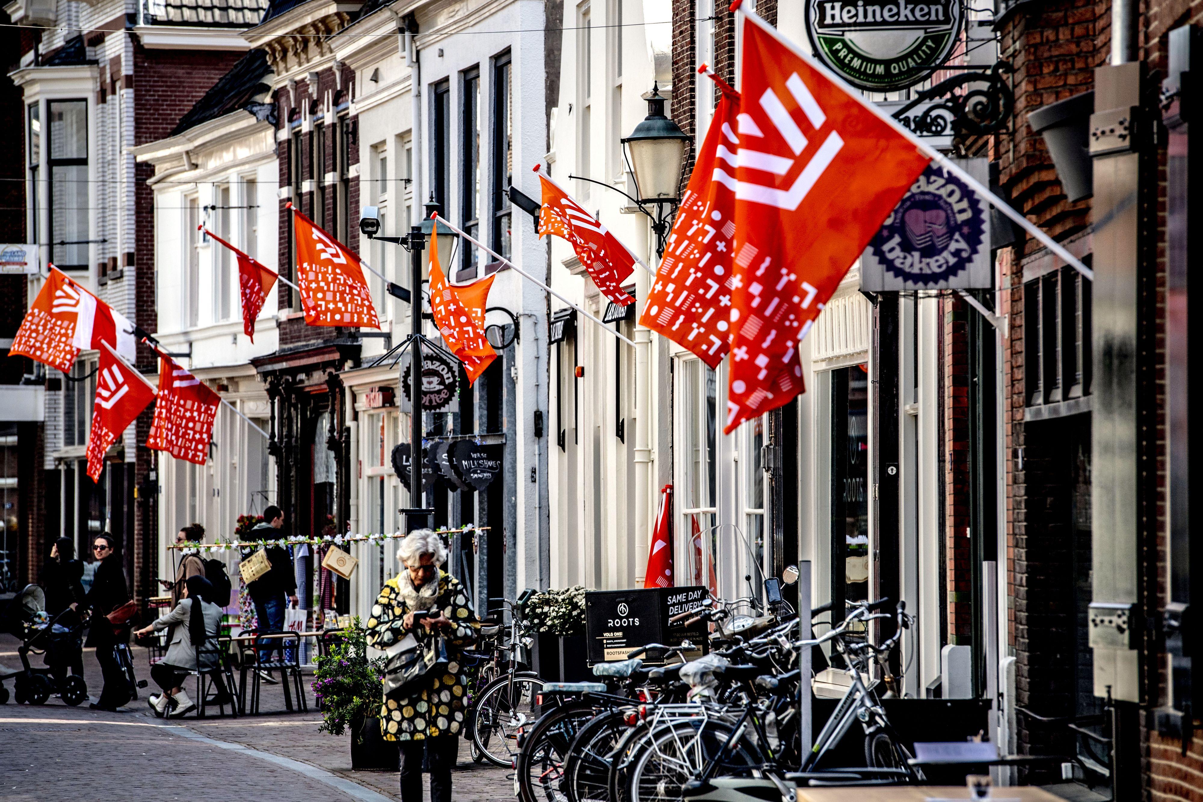 Amersfoort kleurt oranje voor koude Koningsdag
