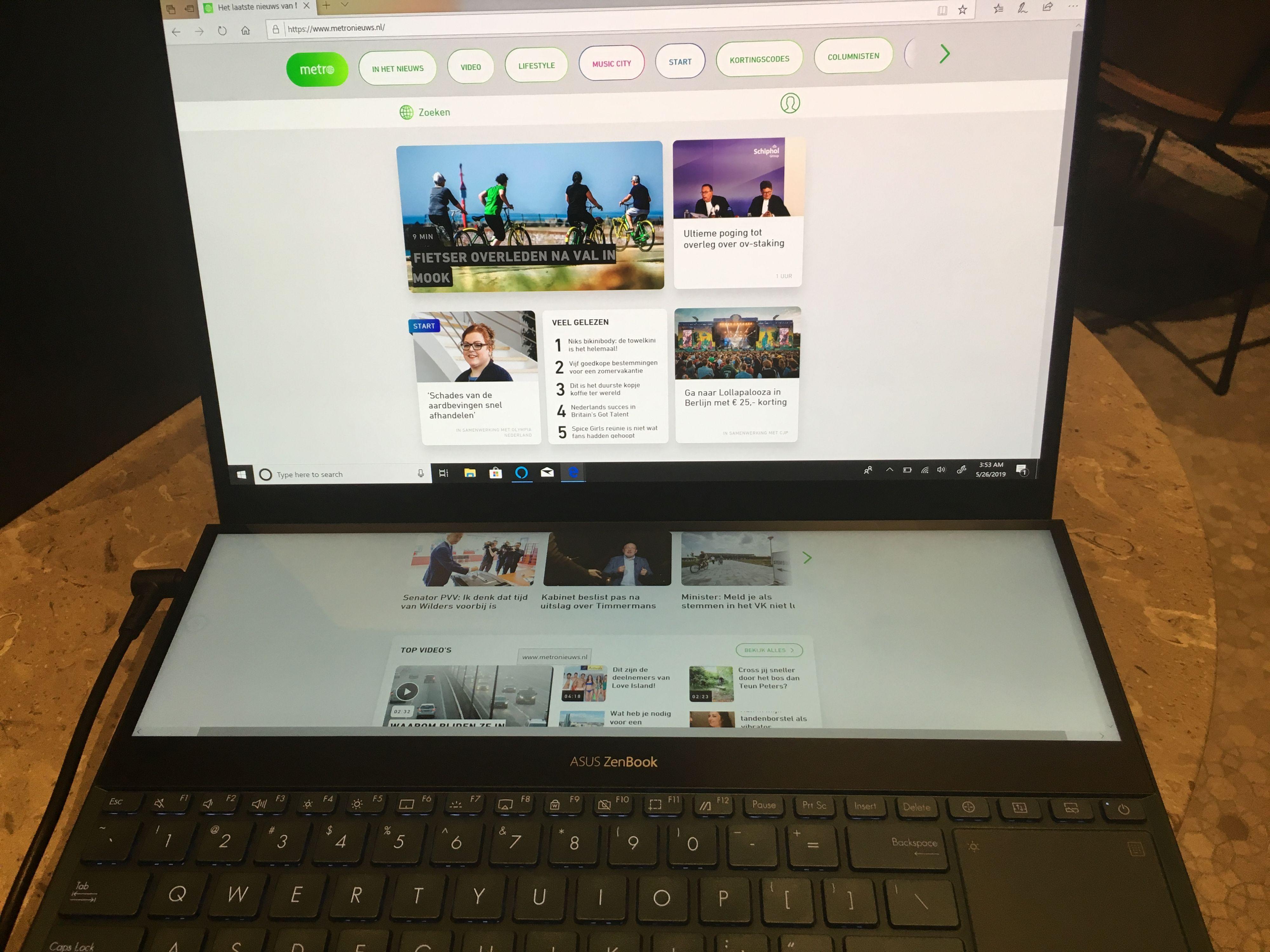 ASUS lanceert laptop mét tweede (grote) scherm