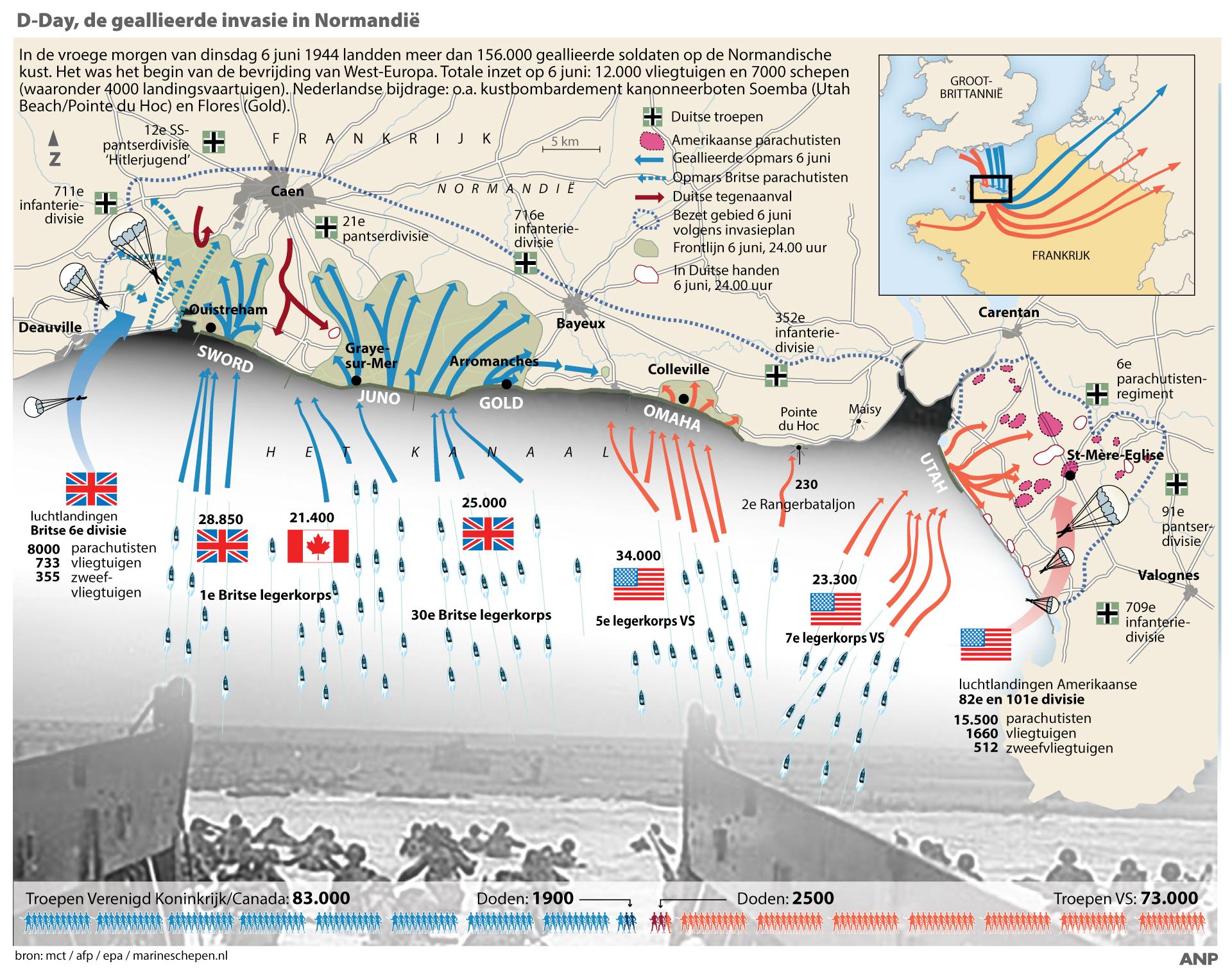 75 jaar na D-Day: doedelzakken en papavers