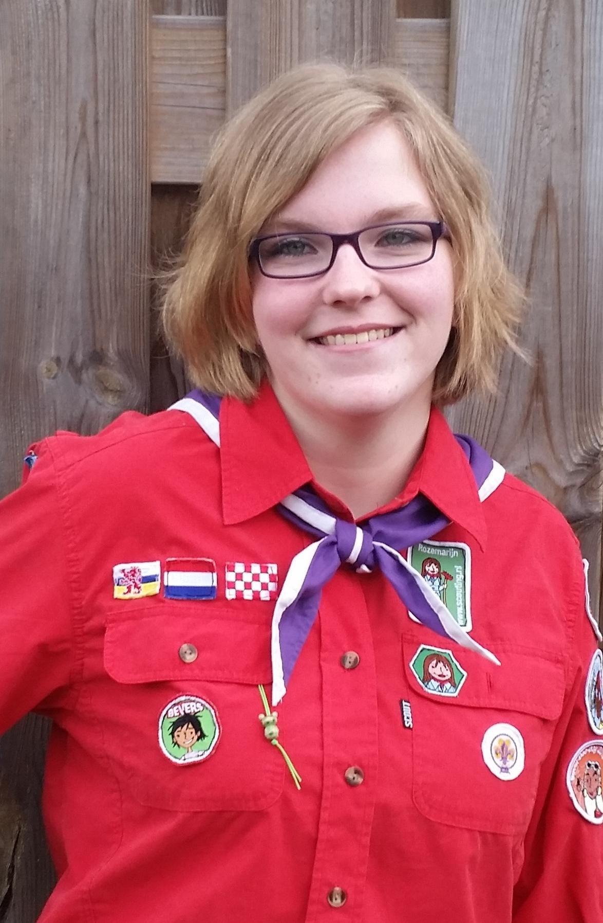 Sharon Op 't Root (26) is nierpatiënt en al tien jaar vrijwilliger bij de scouting