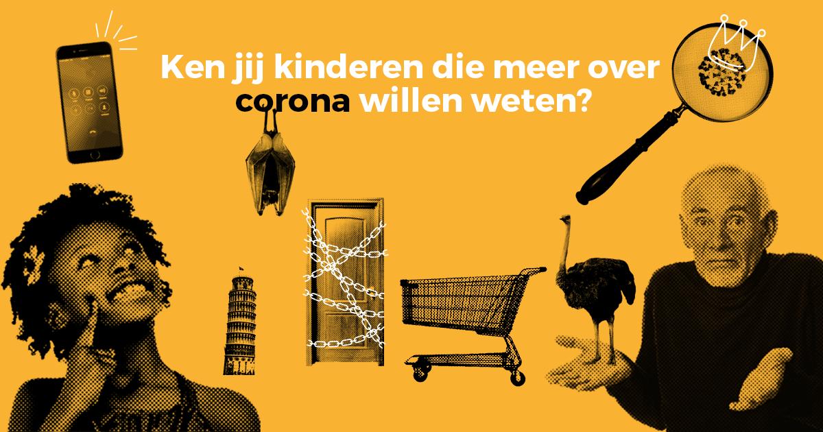 Corona-vragenuur voor kids op Facebook