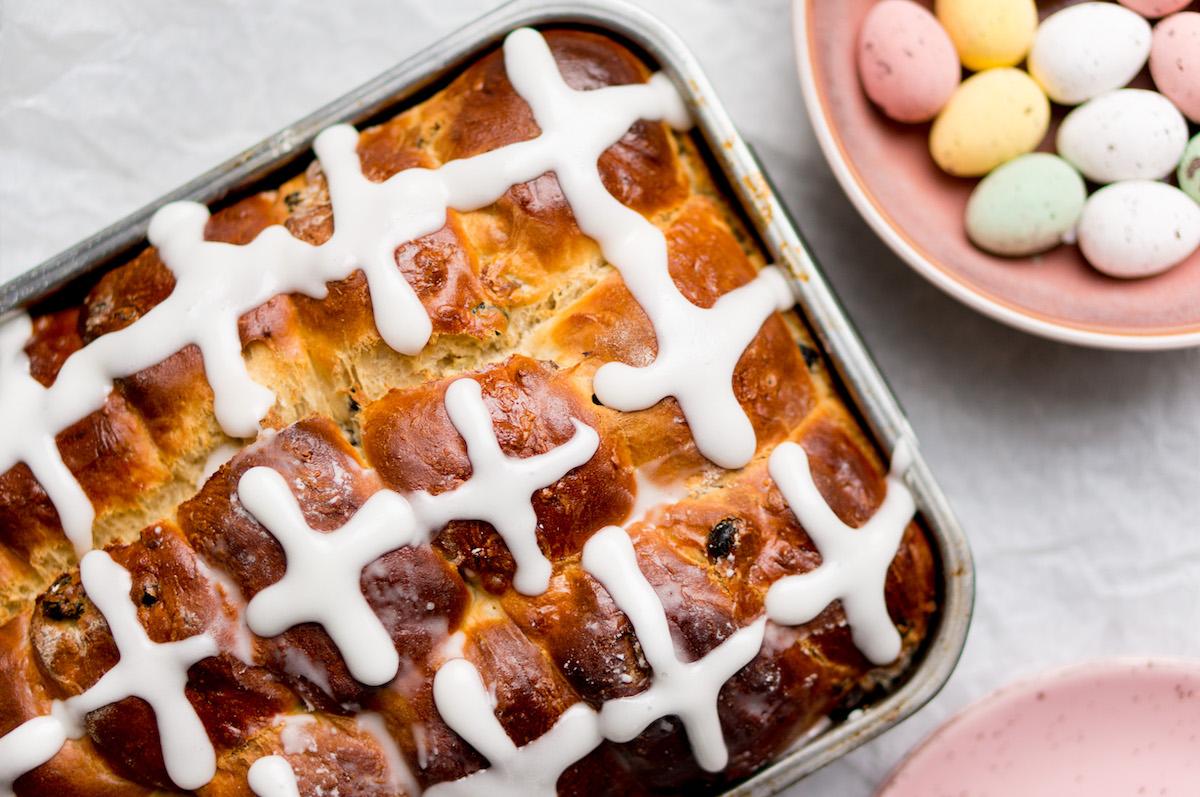 Wat eten we vandaag? Het paasbroodje: hot cross bun