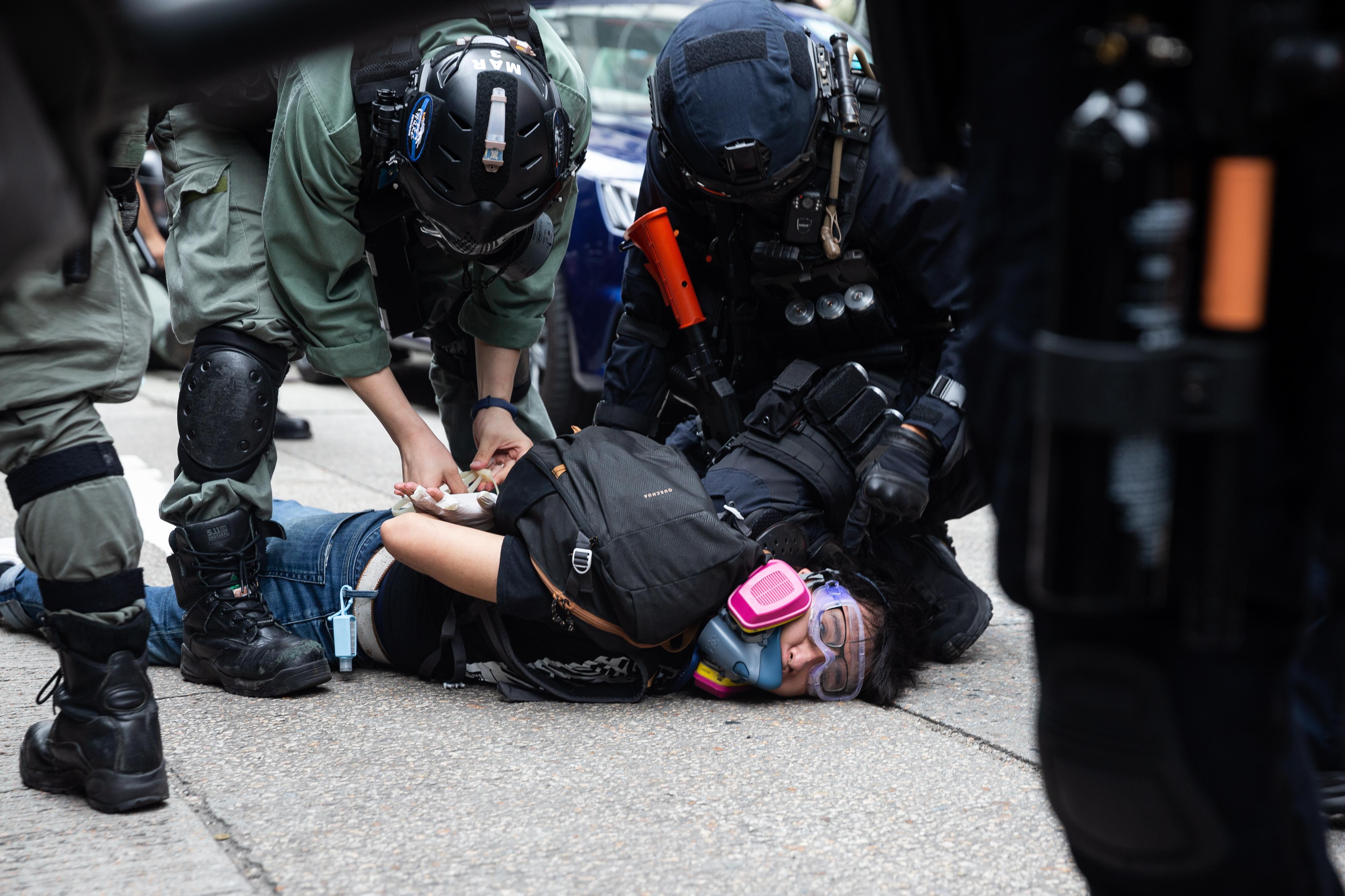 Politie Hongkong demonstratie