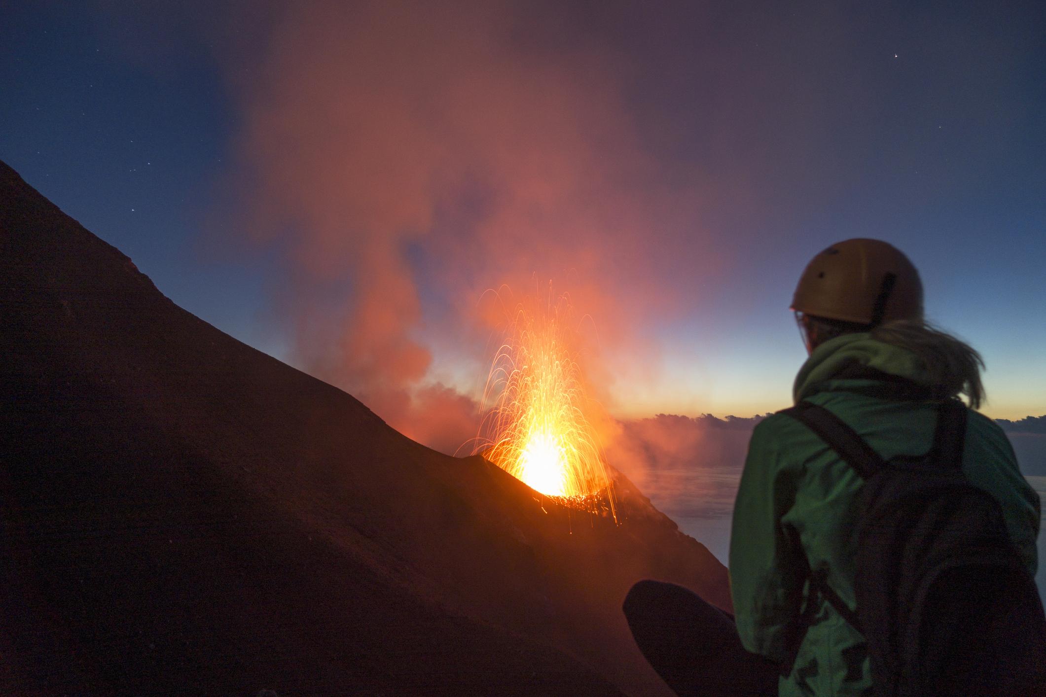 stromboli, wandelen, vulkaan