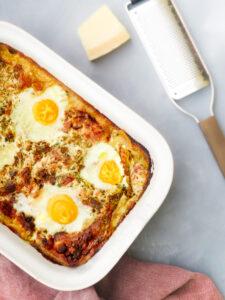 lasagne carbonara om je vingers bij af te likken