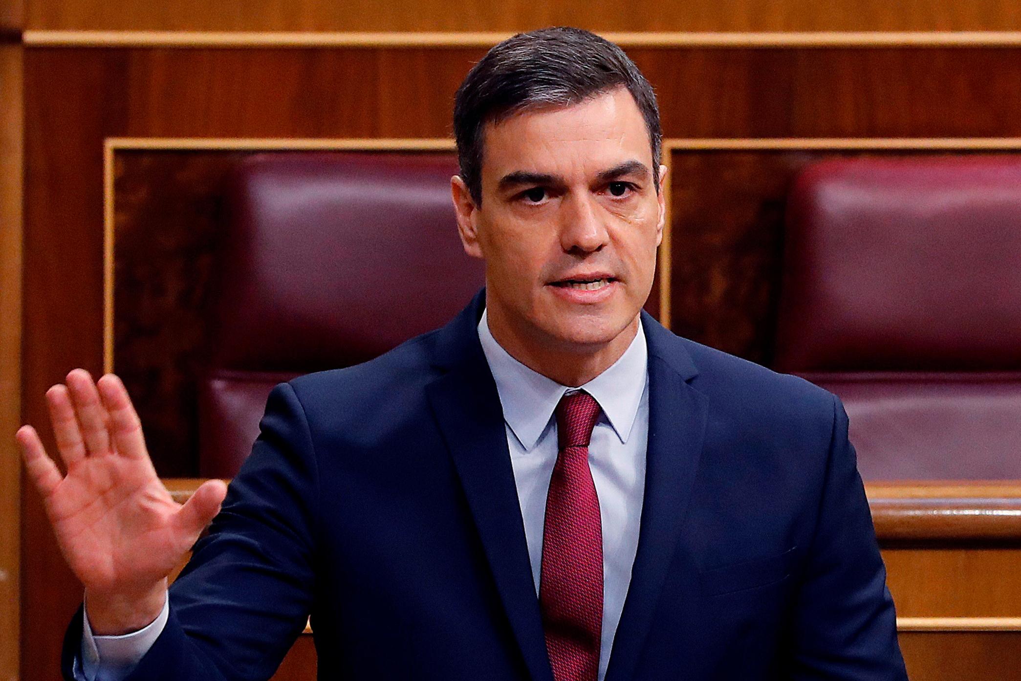 De Spaanse premier Pédro Sanchez