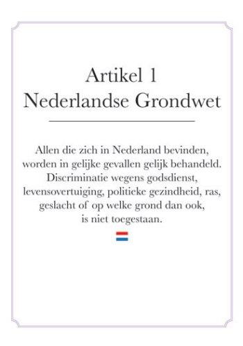 Foto van artikel 1 Grondwet