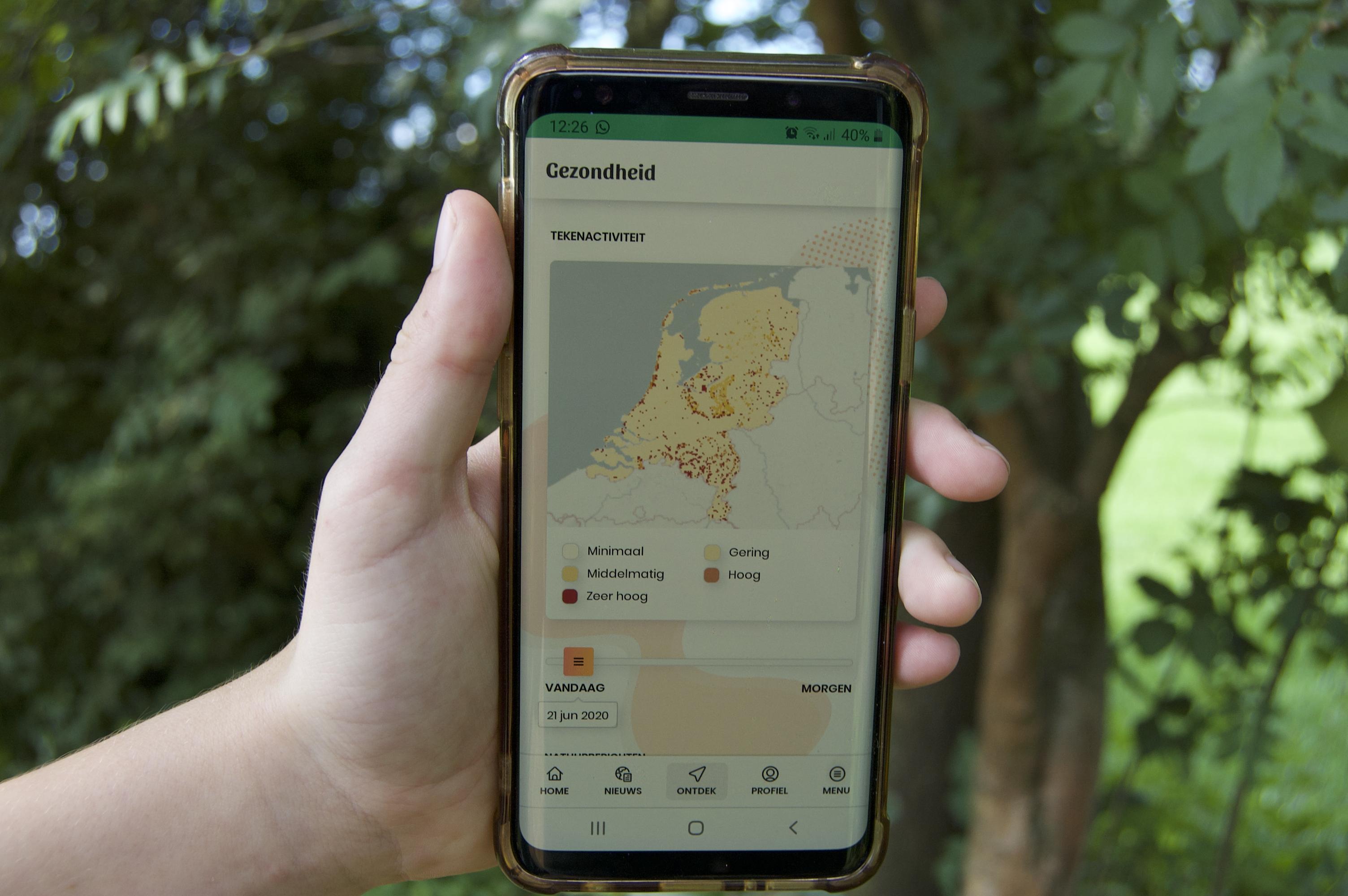 Een foto van de teken-app