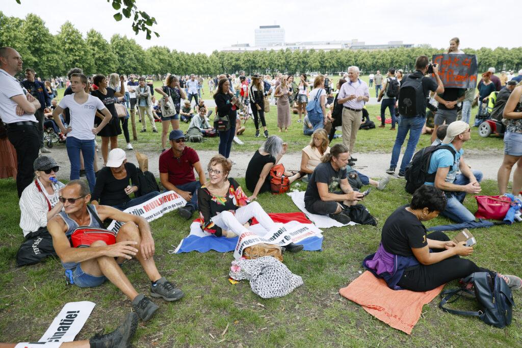 Een foto van demonstranten op het Malieveld