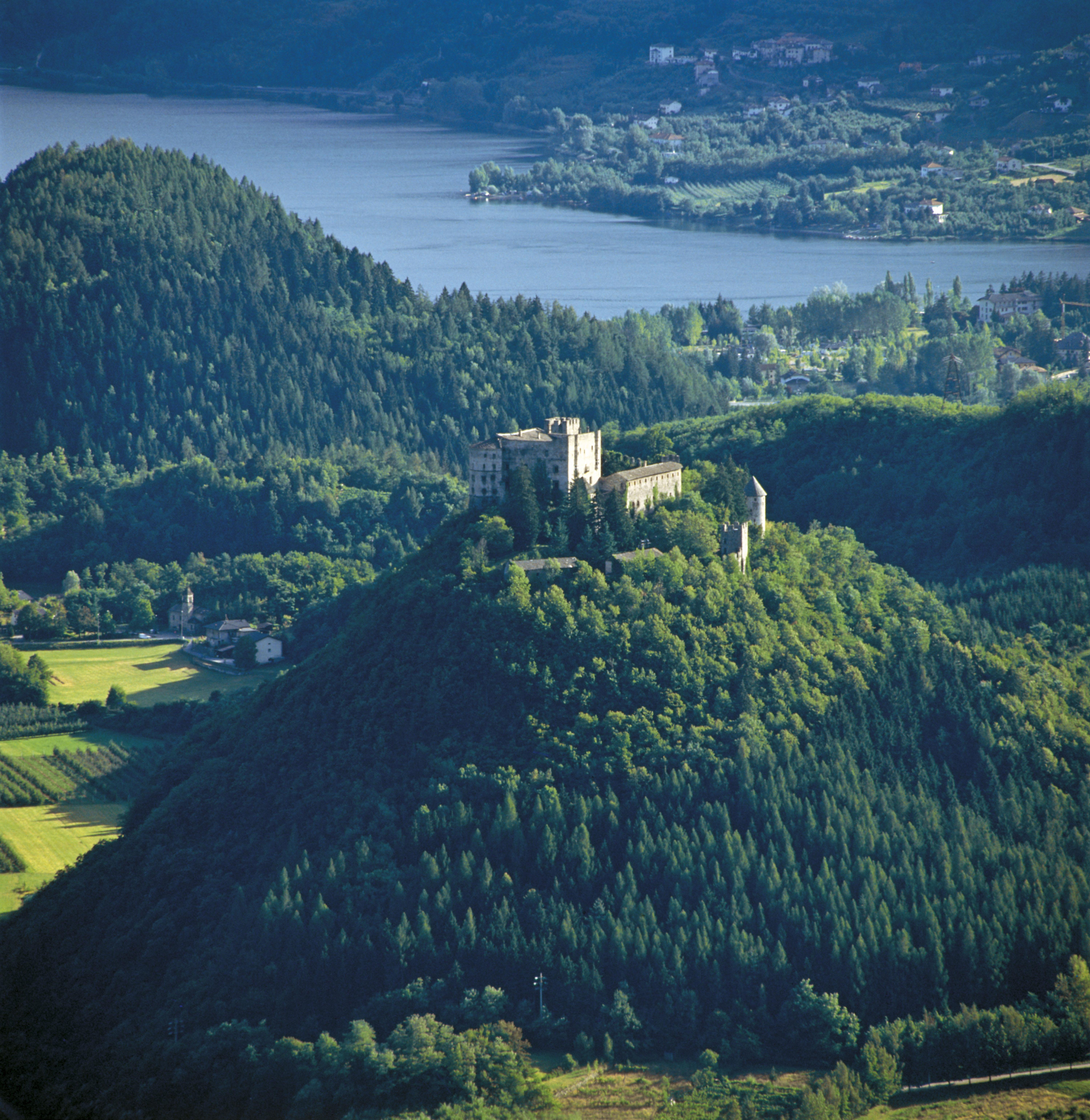 Foto van een landschap in Trentino