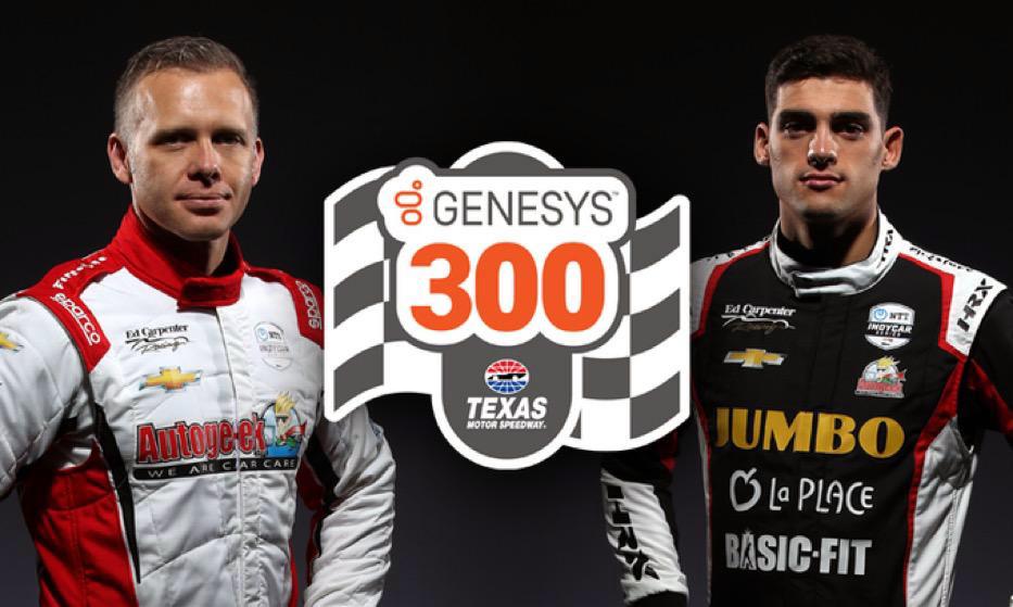 Rinus van Kalmthout (rechts) en zijn racende teambaas Ed Carpenter zijn klaar voor de eerste IndyCar-race van 2020, de Genesys 300 in Texas.