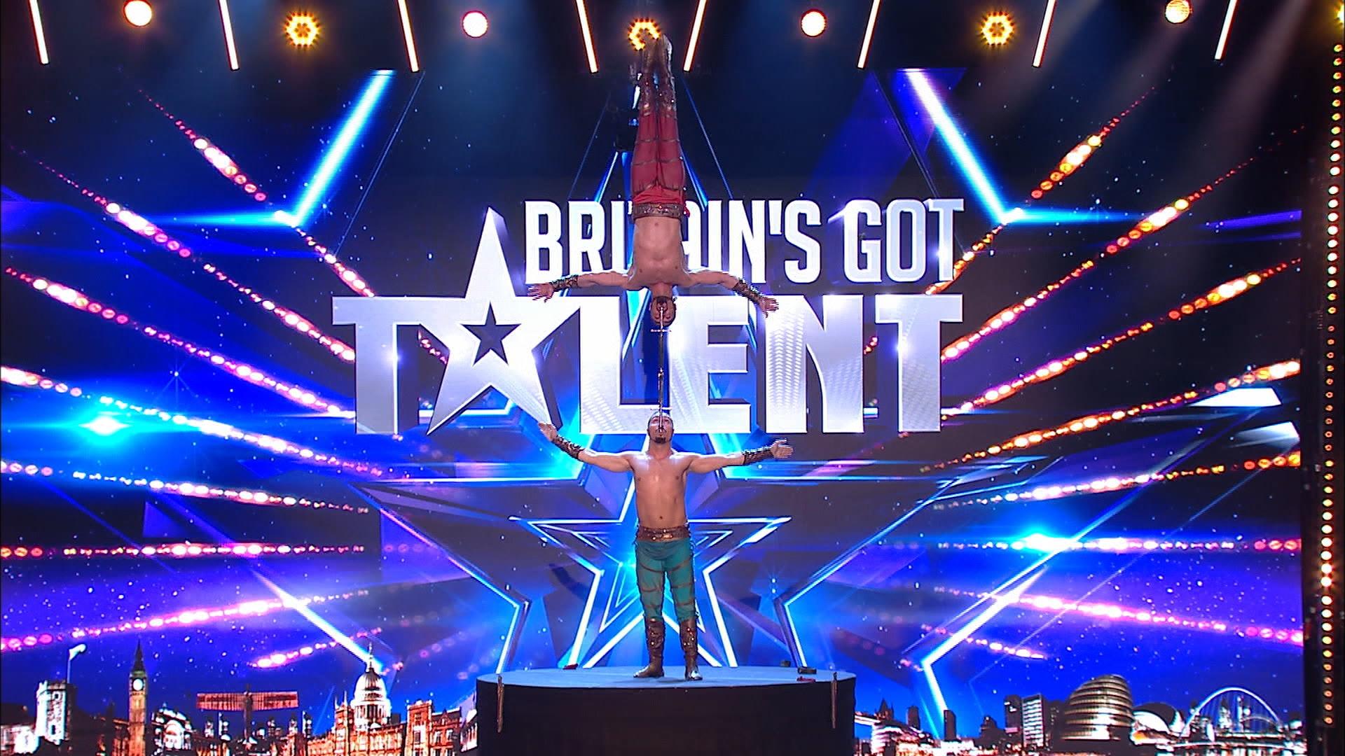 Een foto van het decor van Britains Got Talent