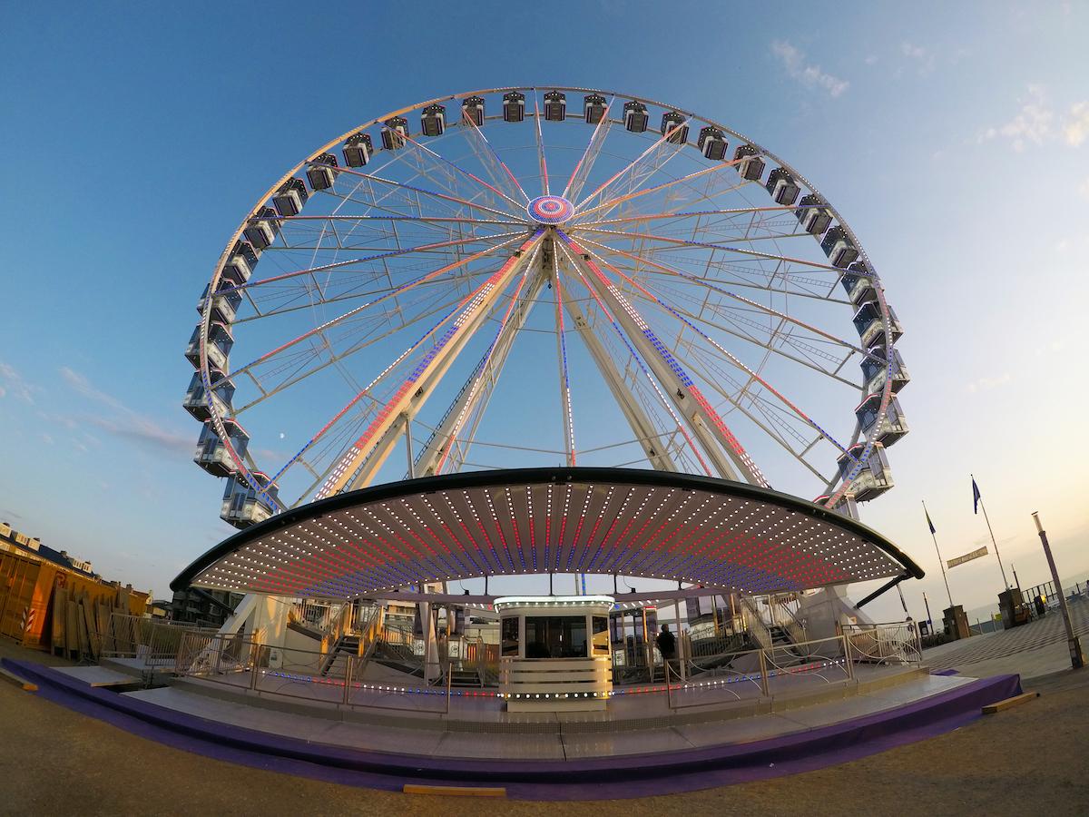 Een foto van het grote reuzenrad dat in Den Bosch komt te staan.