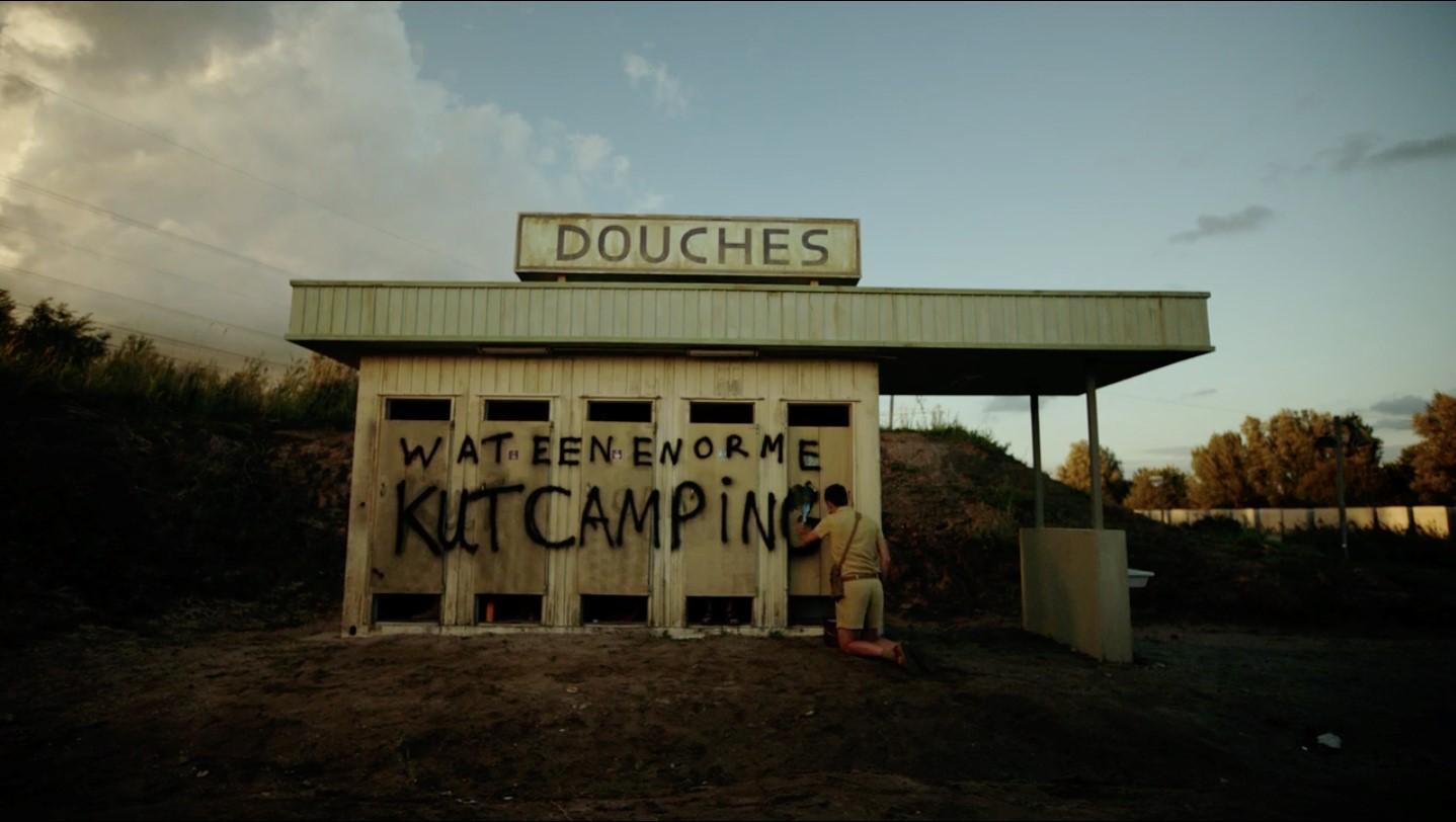 Een foto van het sanitair van de allerslechtste camping