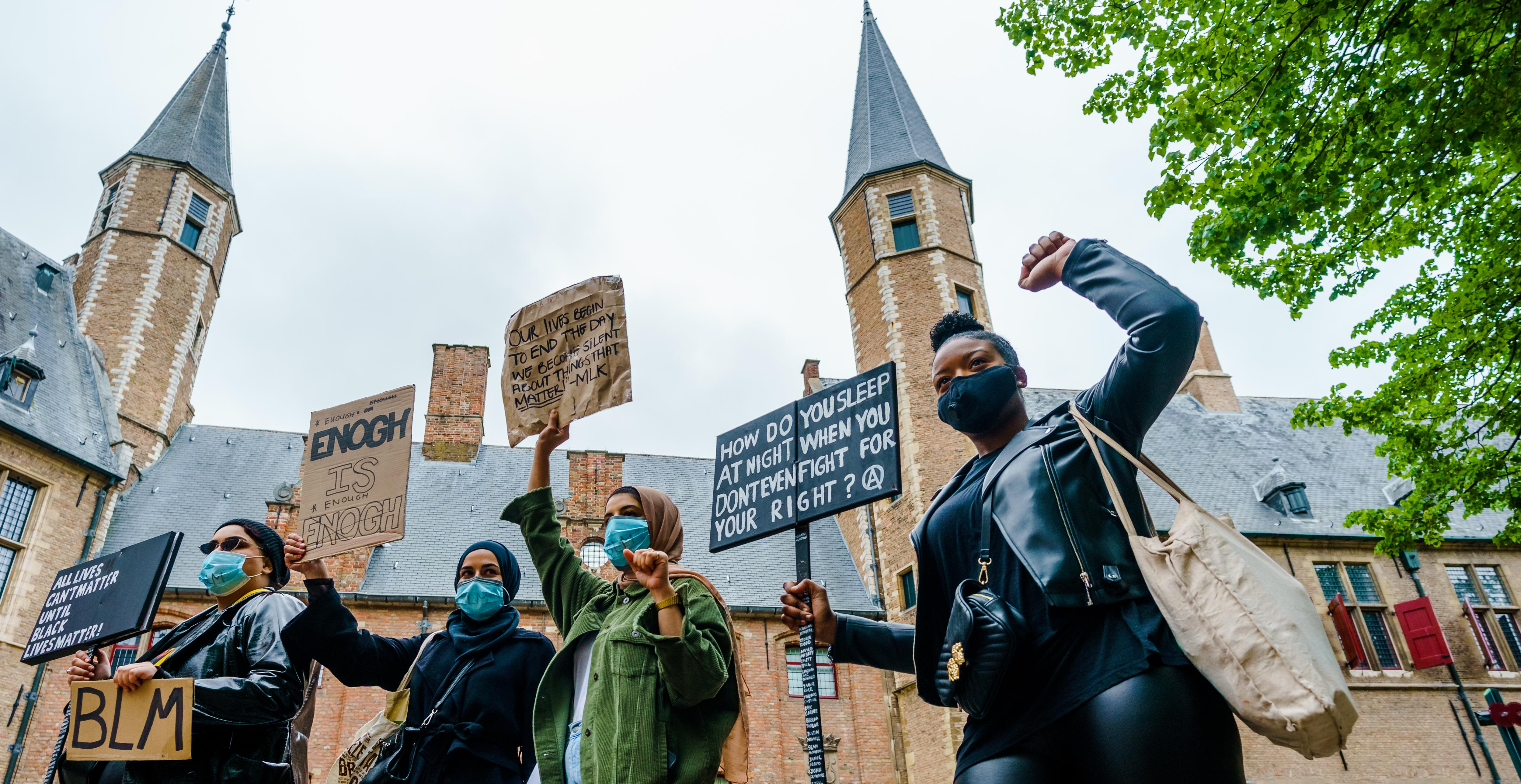 Antiracisme-bijeenkomst in Middelburg