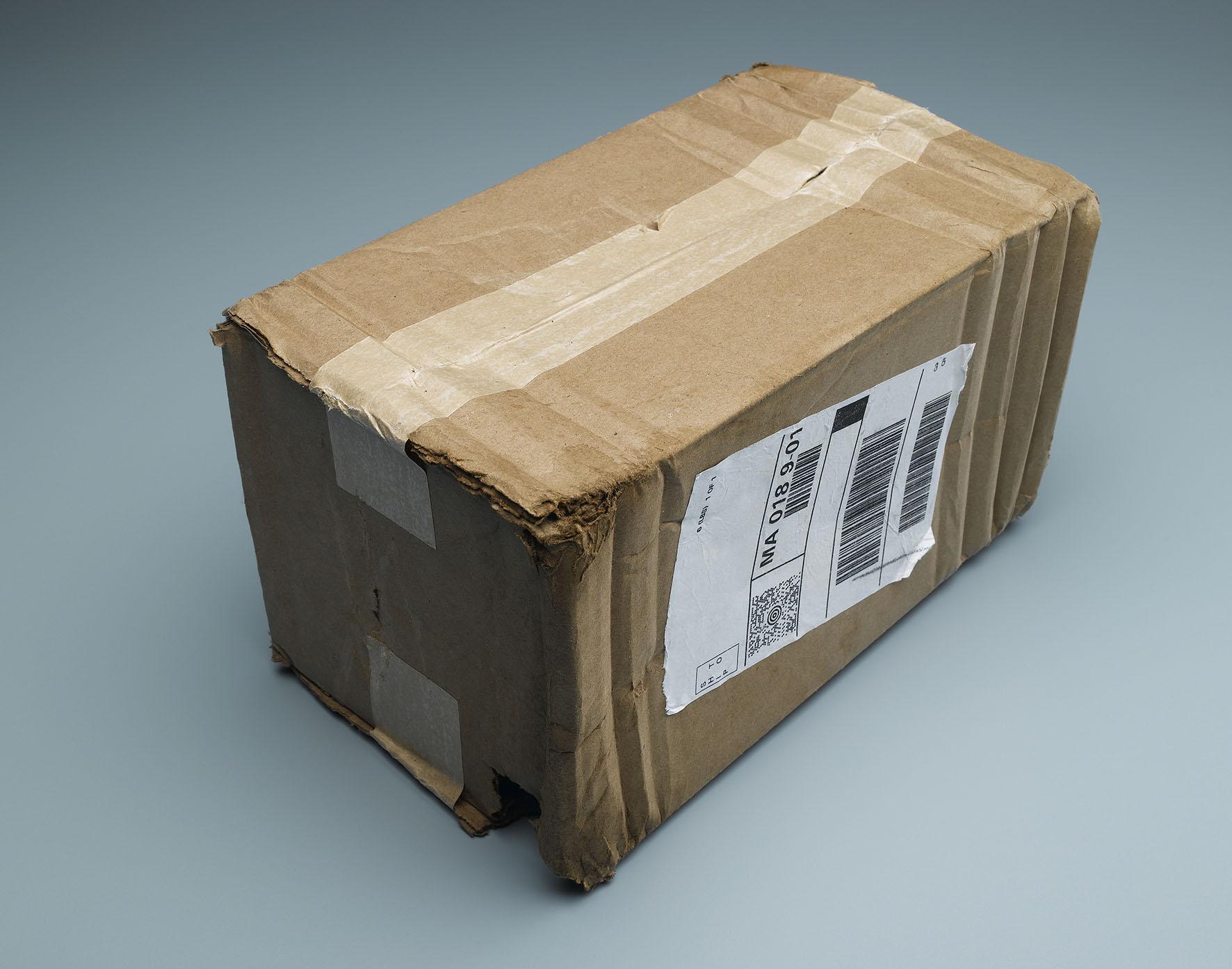 Op deze foto zie je een louche pakketje