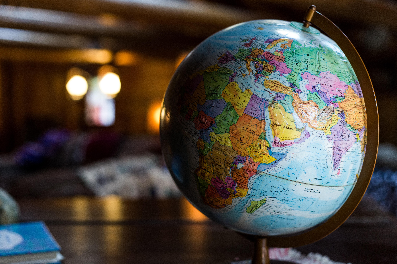 Een foto van een wereldbol
