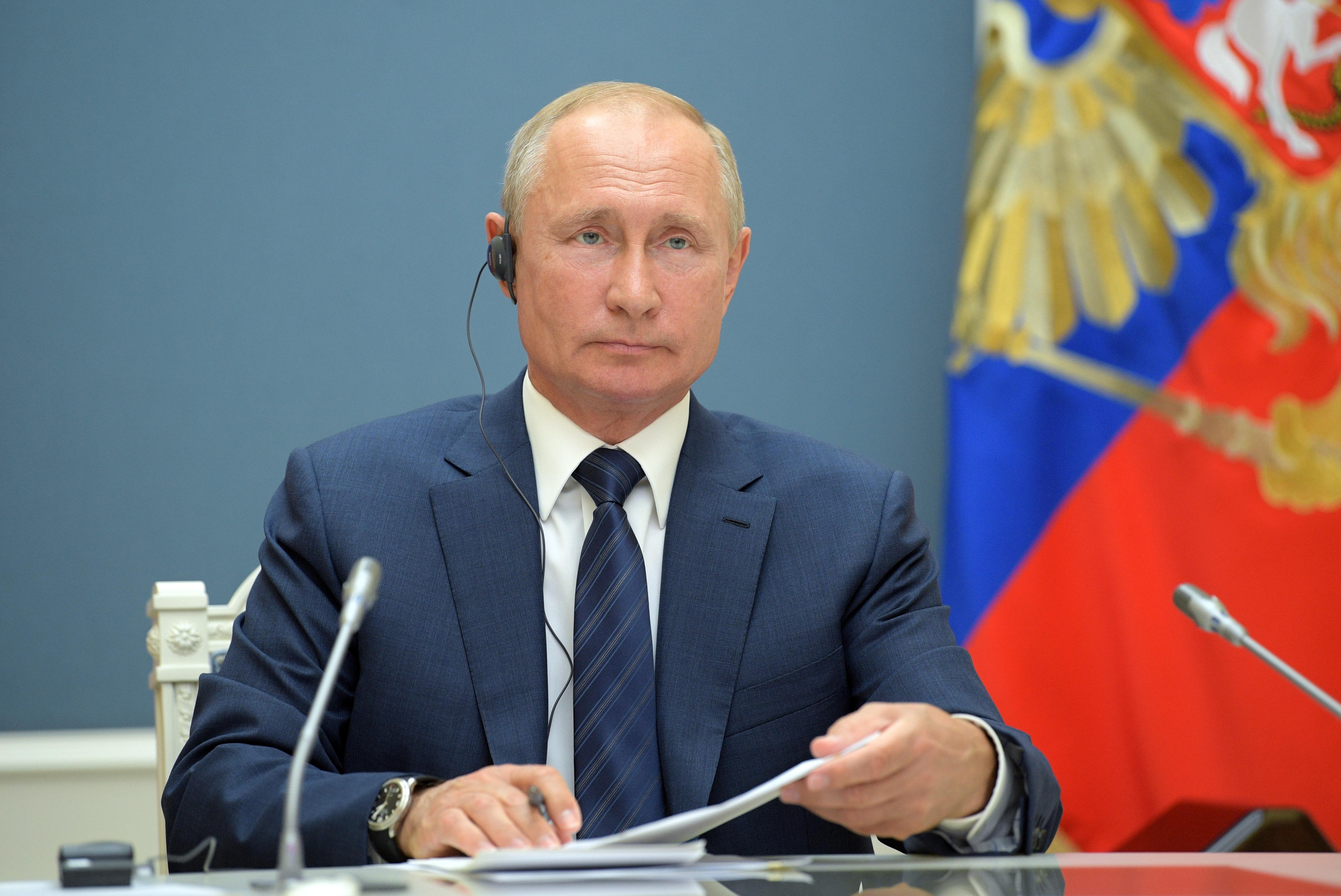 Een foto van Vladimir Poetin
