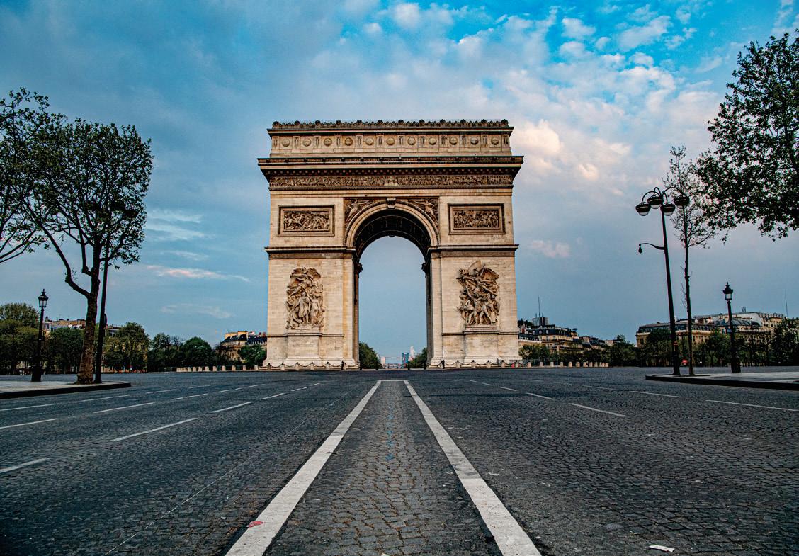 Een foto van de Arc de Triomph