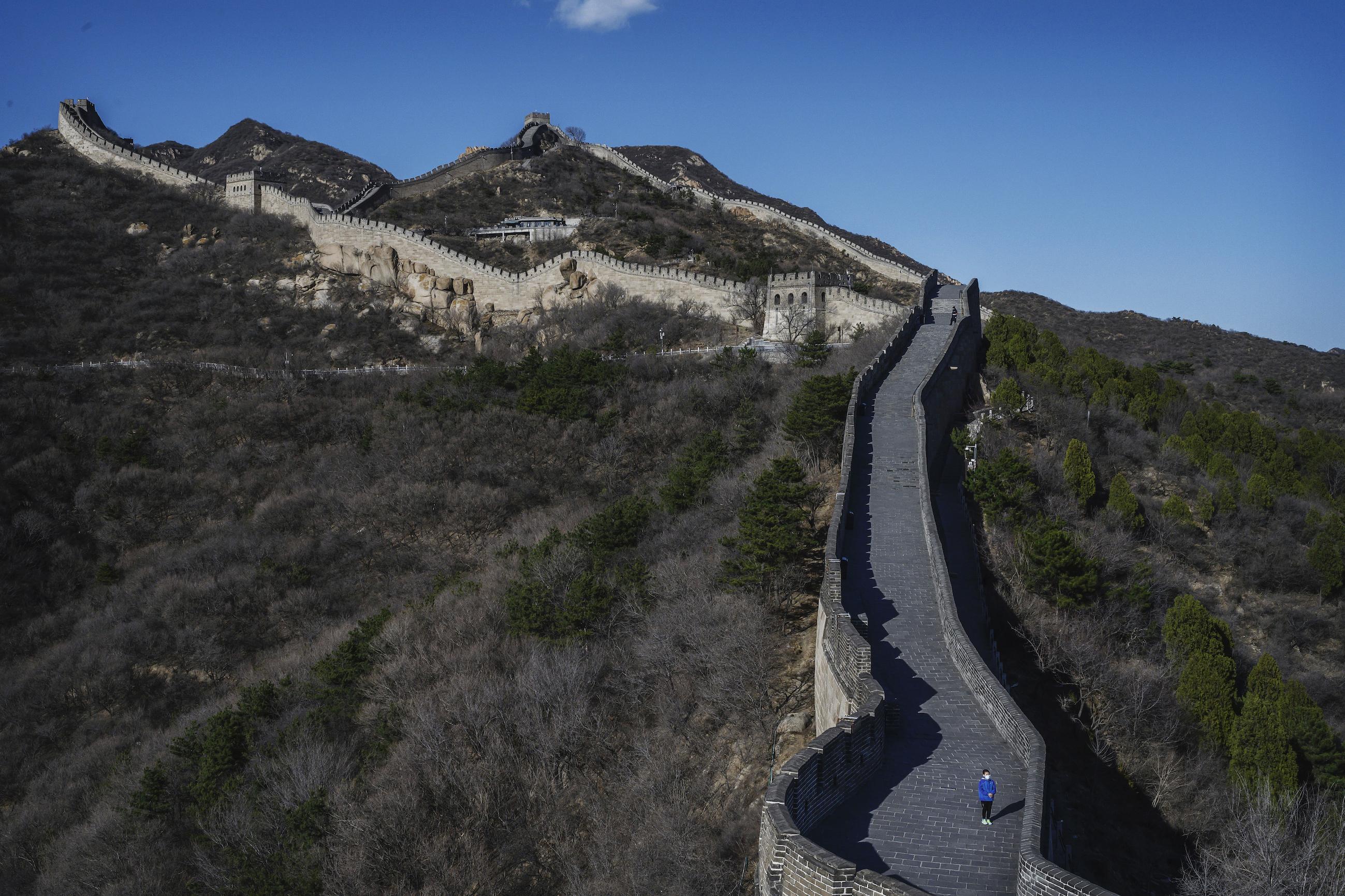 Een foto van de Chinese Muur