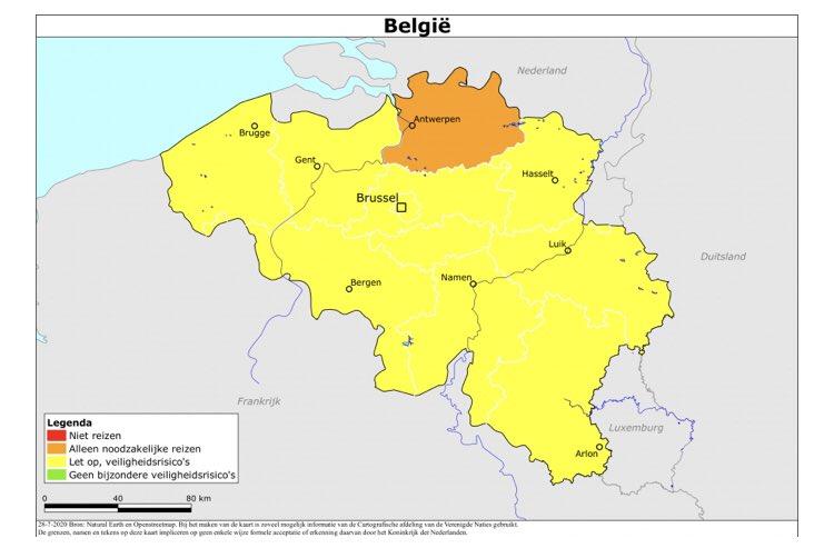 Nieuw Reisadvies Code Oranje Voor Provincie Antwerpen
