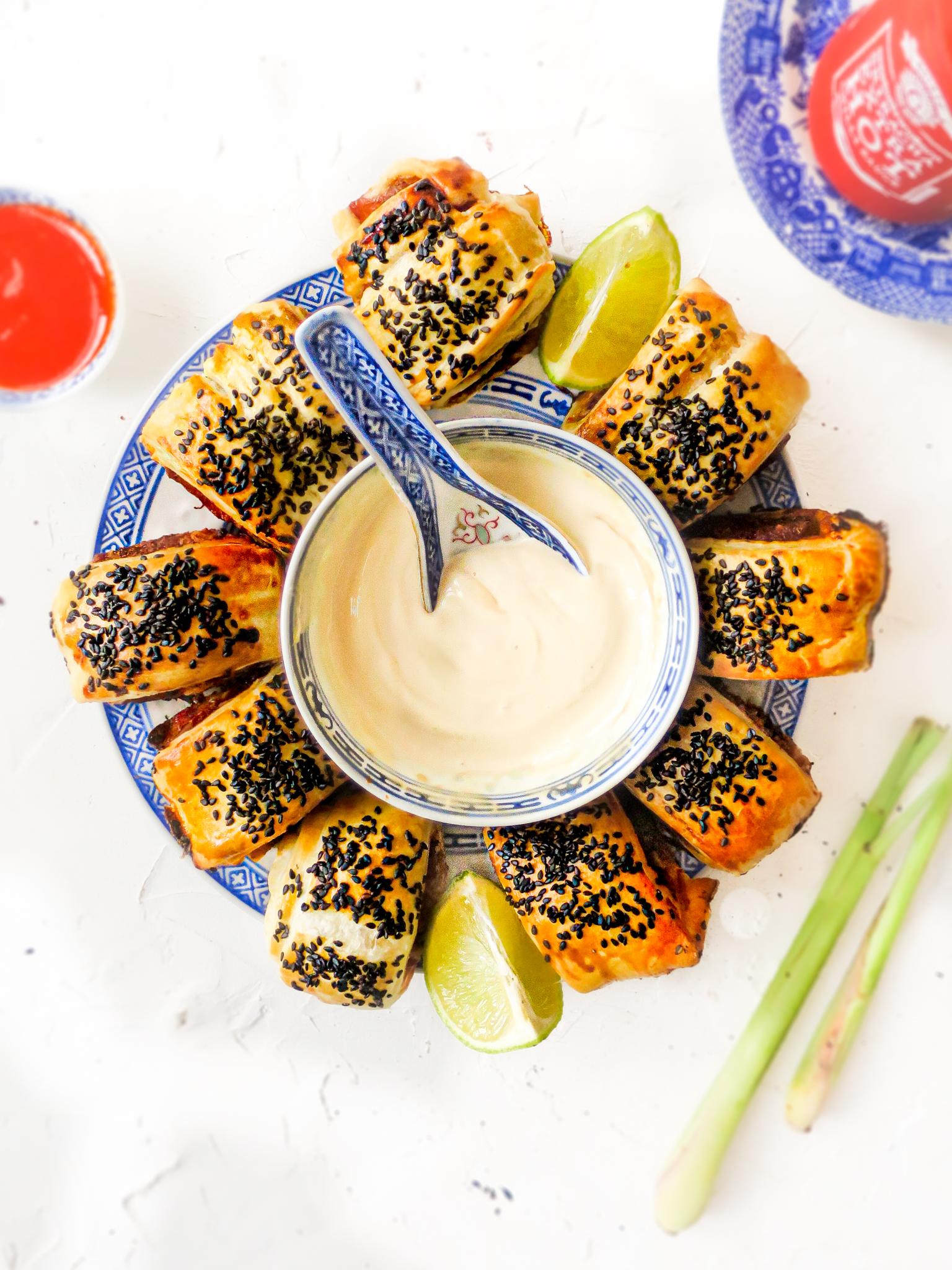 Op deze foto zie je Vietnamese saucijzenbroodjes