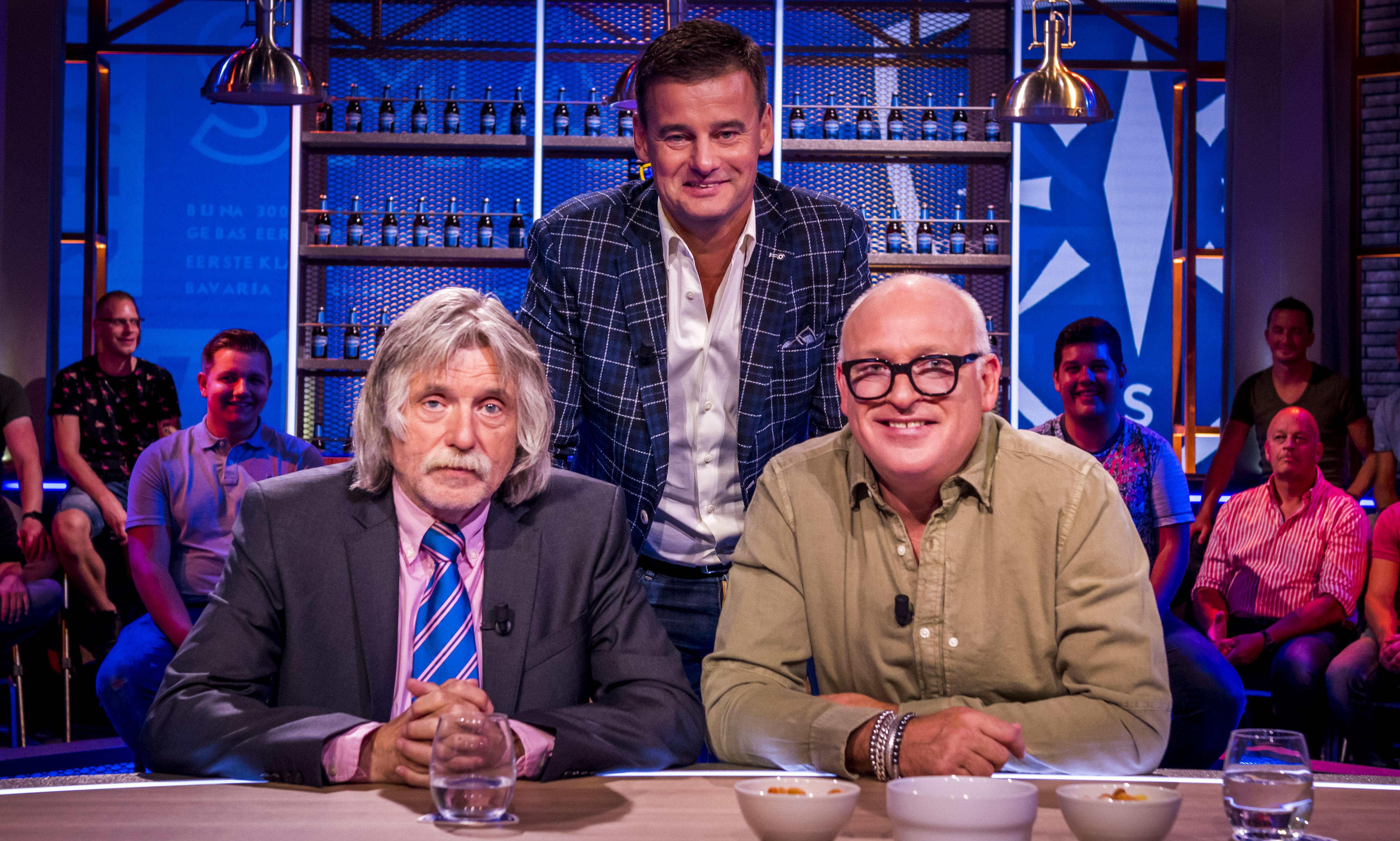 Een foto van Johan Derksen, Wilfred Genee en René van der Gijp bij Veronica Inside