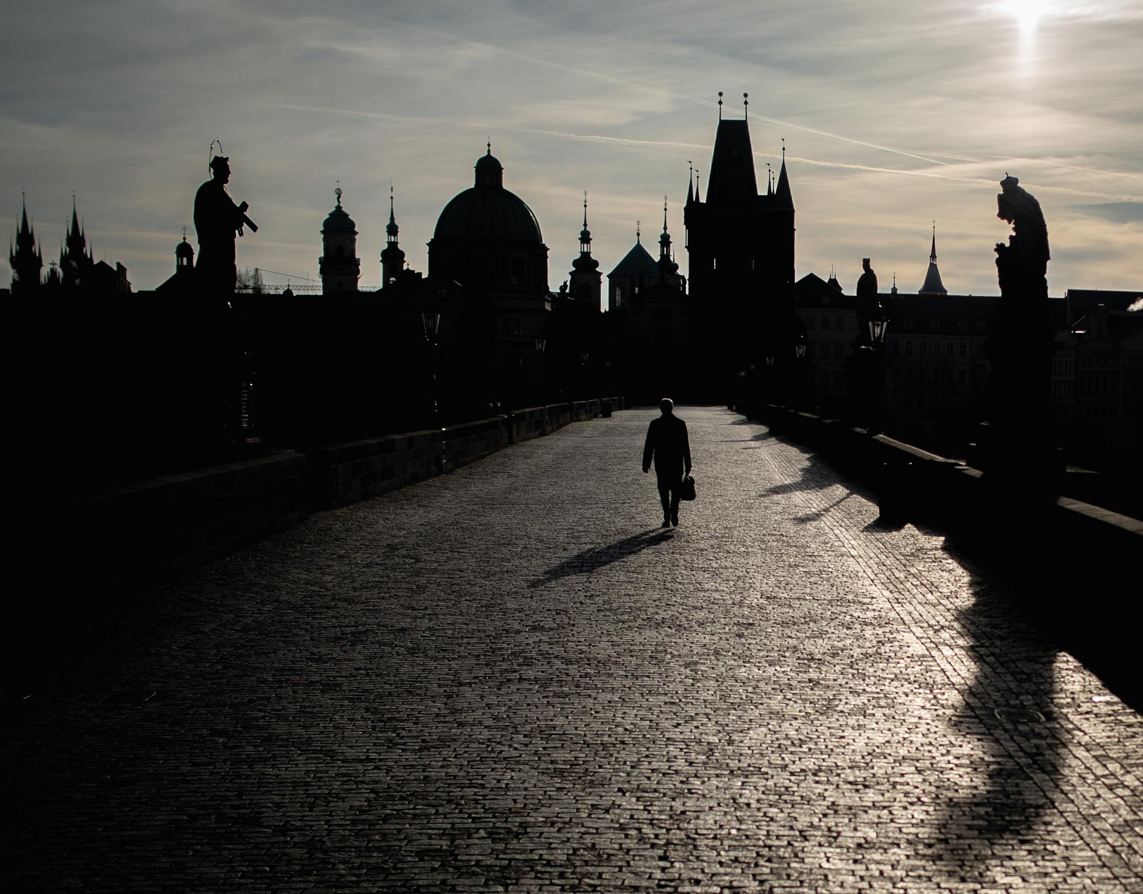 Een foto van de Karelsbrug in Praag
