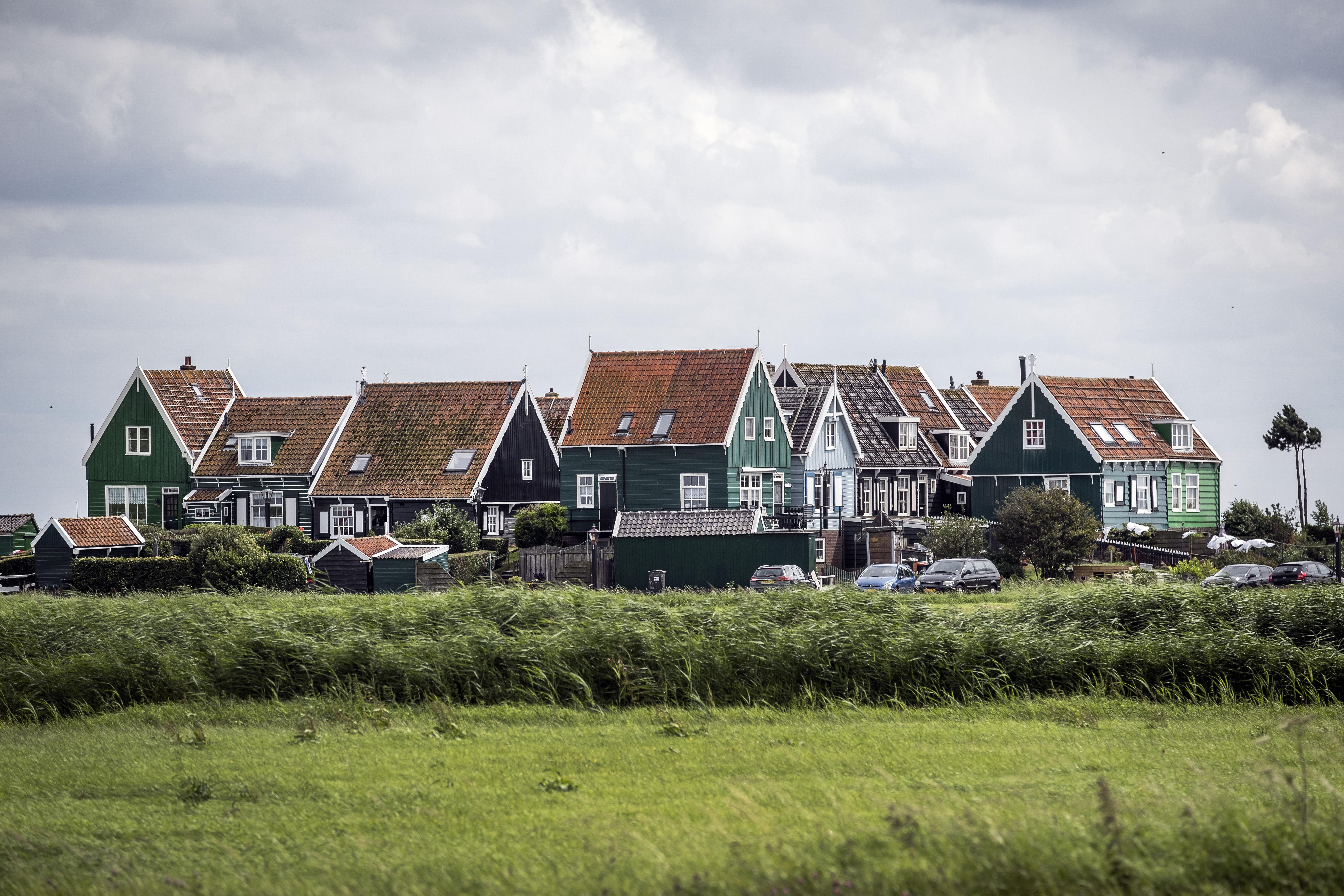 Een foto van het dorp Marken
