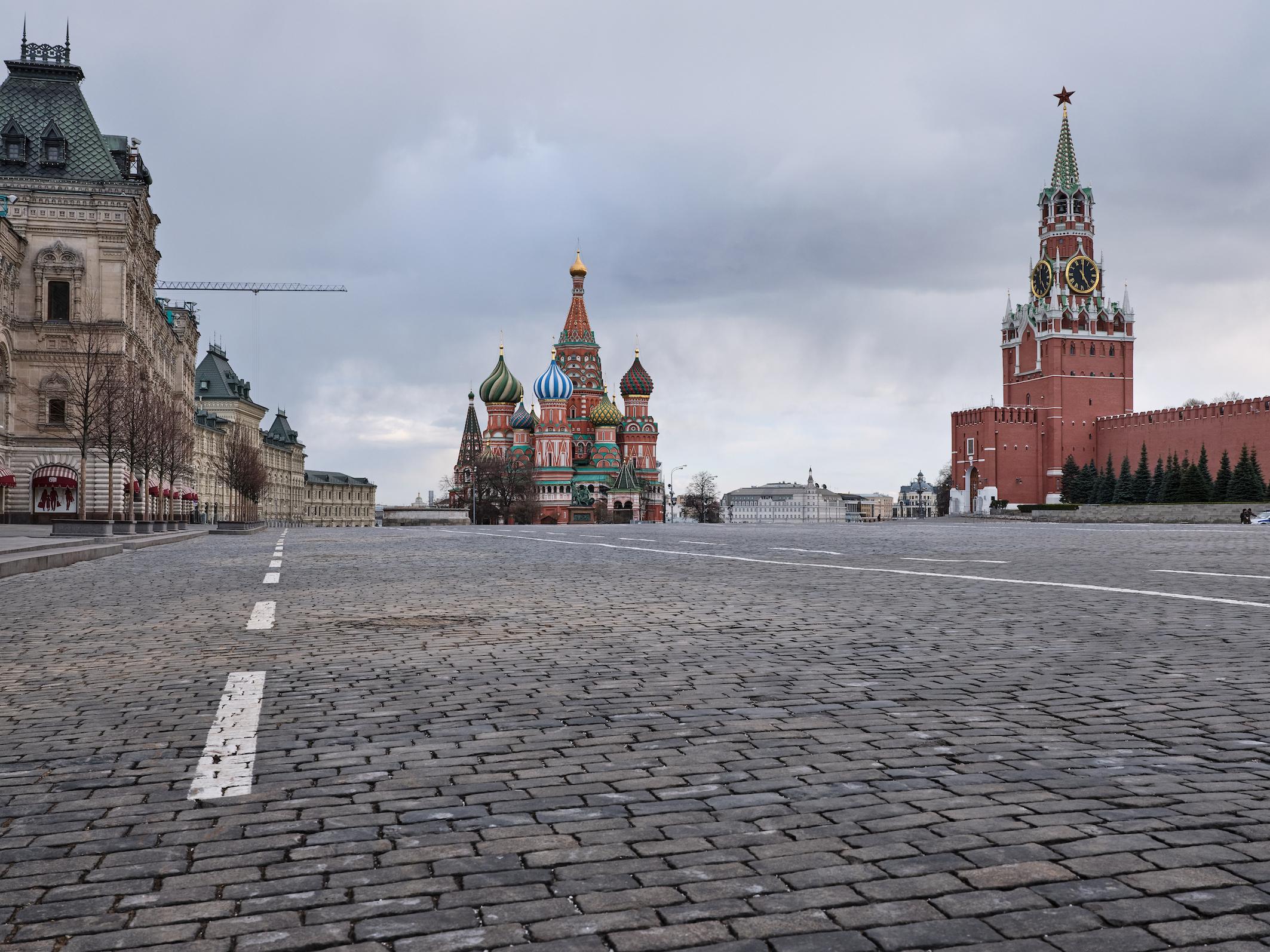 Een foto van het Rode Plein in Moskou